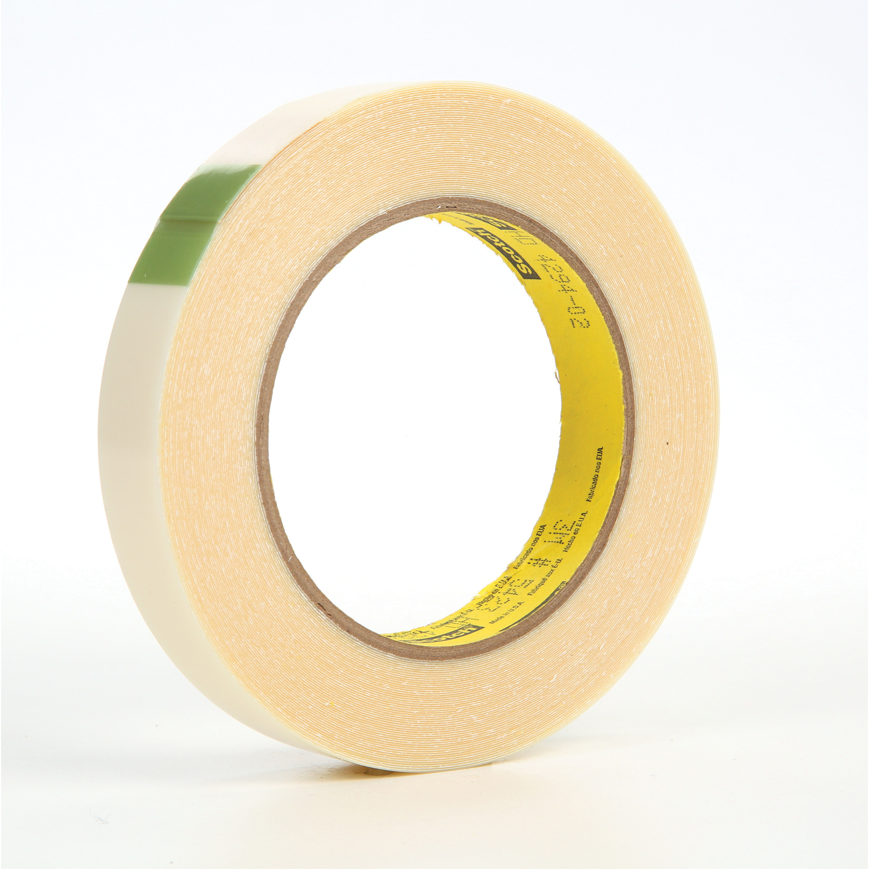 3M™ 021200-11991 Film Tape, 18 yd L x 3/4 in W, 11.7 mil THK, Rubber Adhesive, UHMWP Backing, Transparent
