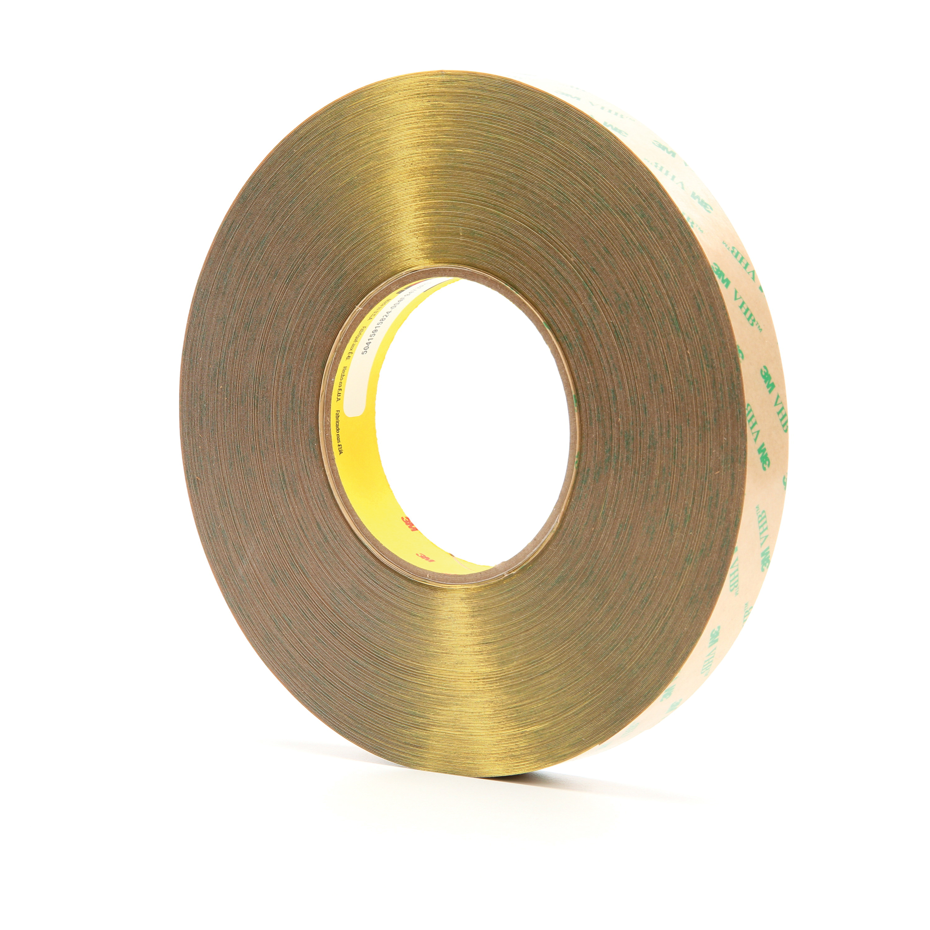 3M™ VHB™ 021200-13973 High Performance Low Tack Adhesive Transfer Tape, 60 yd L x 3/4 in W, 14.2 mil THK, 10 mil 100MP Acrylic Adhesive, Clear