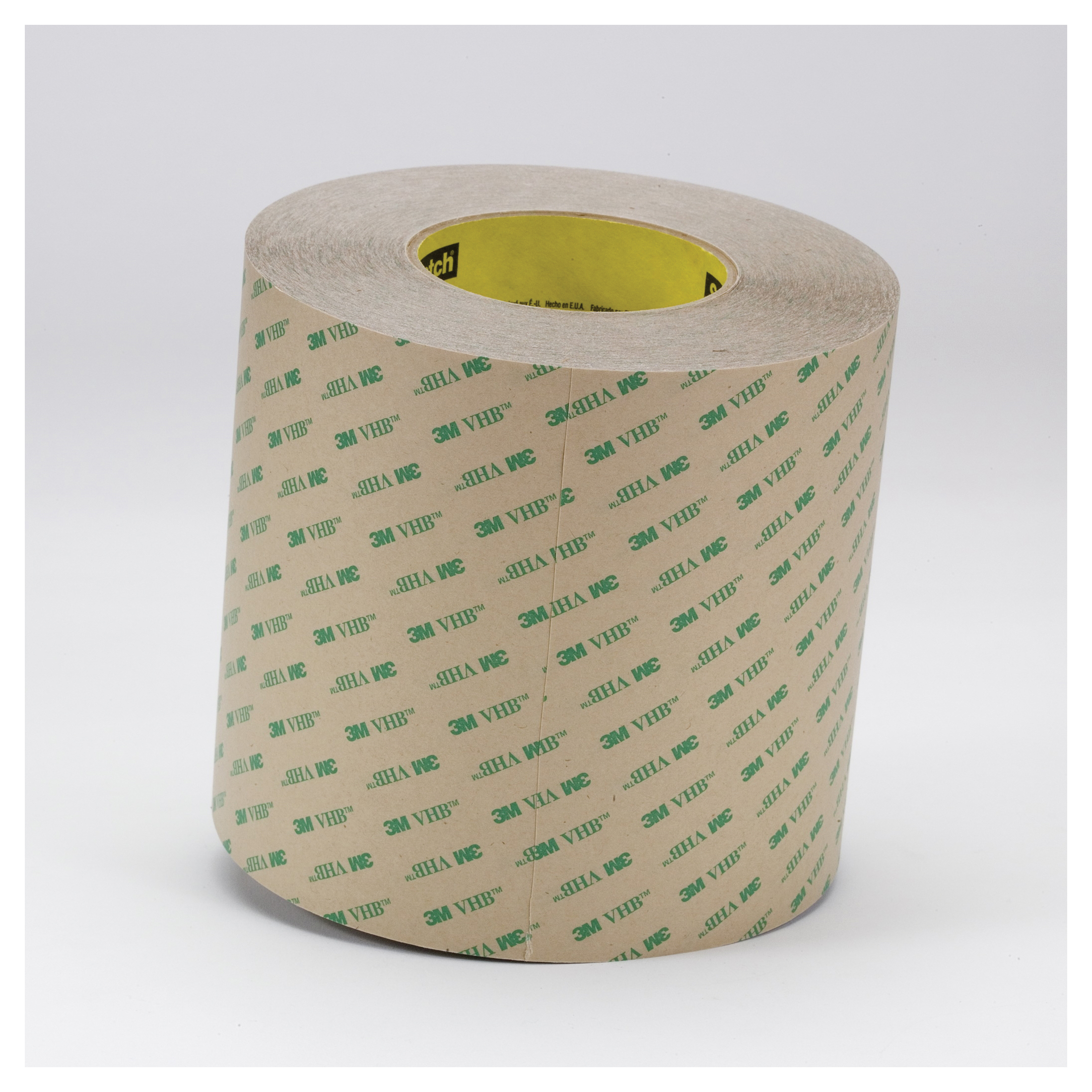 3M™ VHB™ 021200-13976 High Performance Low Track Adhesive Transfer Tape, 60 yd L x 1 in W, 6.2 mil THK, 2 mil 100MP Acrylic Adhesive, Clear