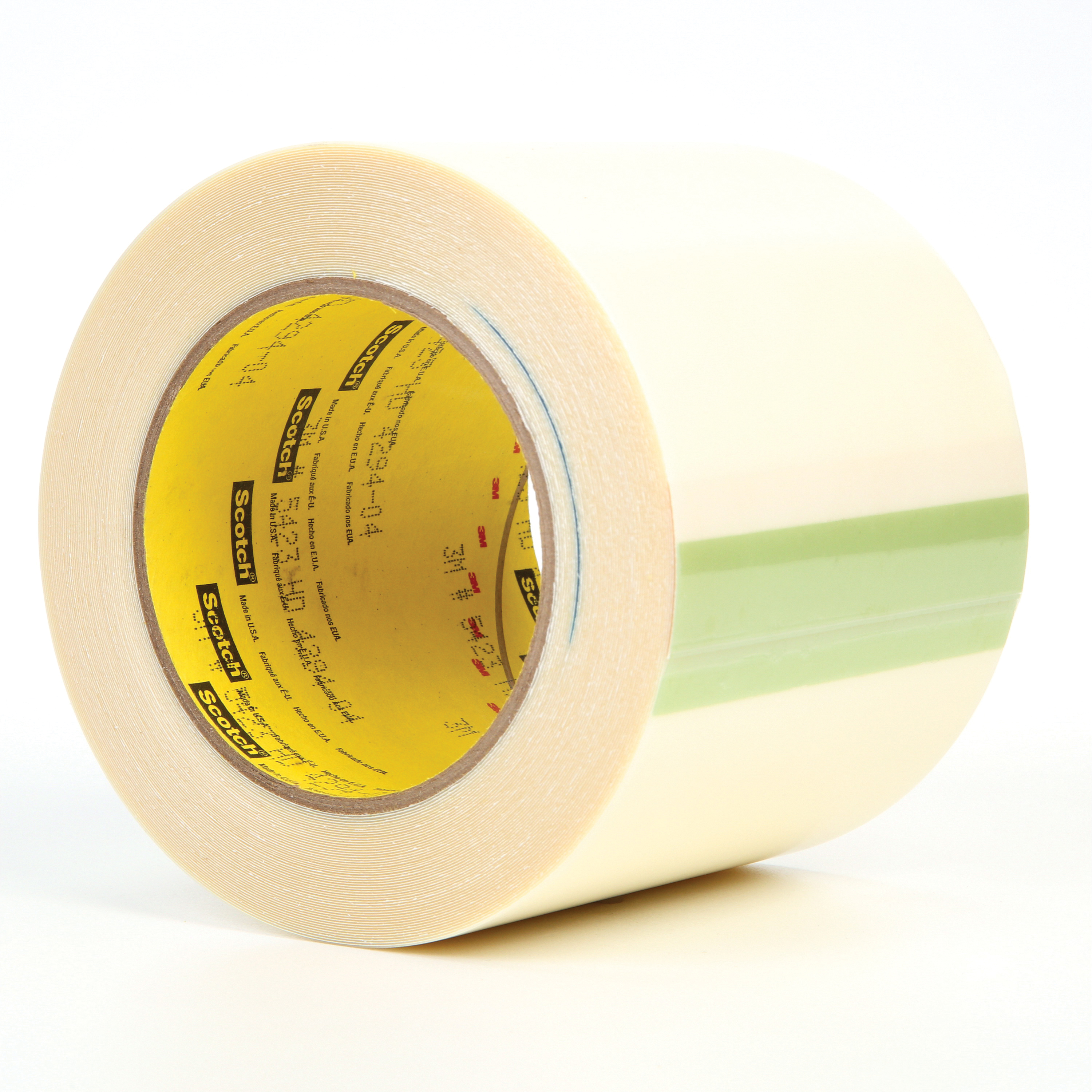 3M™ 021200-14457 Film Tape, 18 yd L x 4 in W, 11.7 mil THK, Rubber Adhesive, UHMWP Backing, Transparent