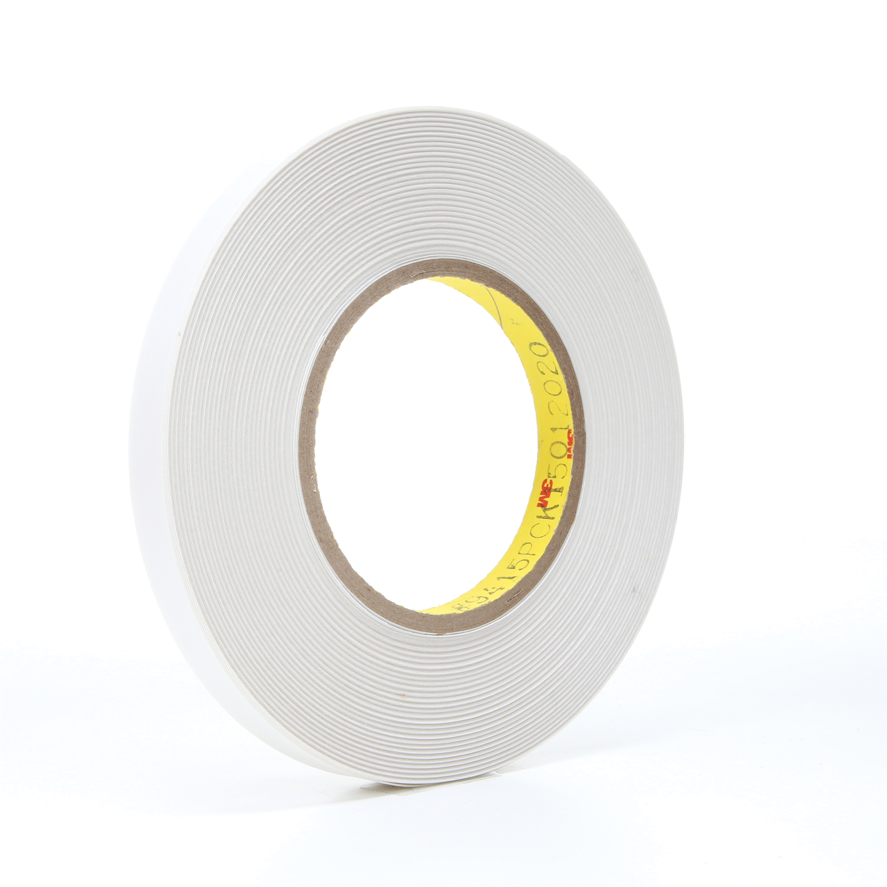 3M™ 021200-14536 Removable Repositionable Tape, 72 yd L x 1/2 in W, 7.6 mil THK, 0.5 mil 400 Acrylic Adhesive, Polyester Film Backing, Clear