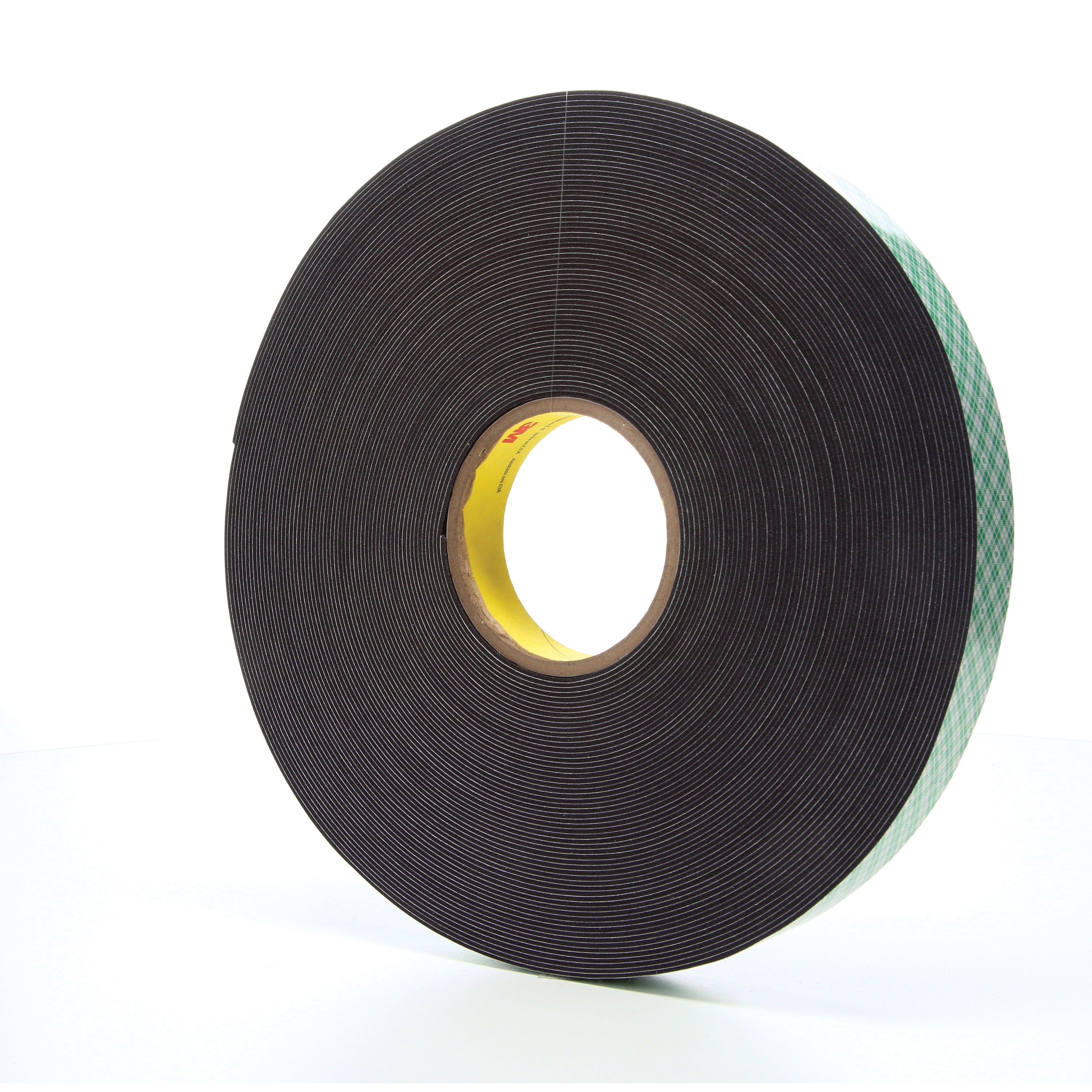 3M™ 021200-14558 Double Coated Tape, 36 yd L x 1 in W, 62 mil THK, Acrylic Adhesive, Urethane Foam Backing, Black