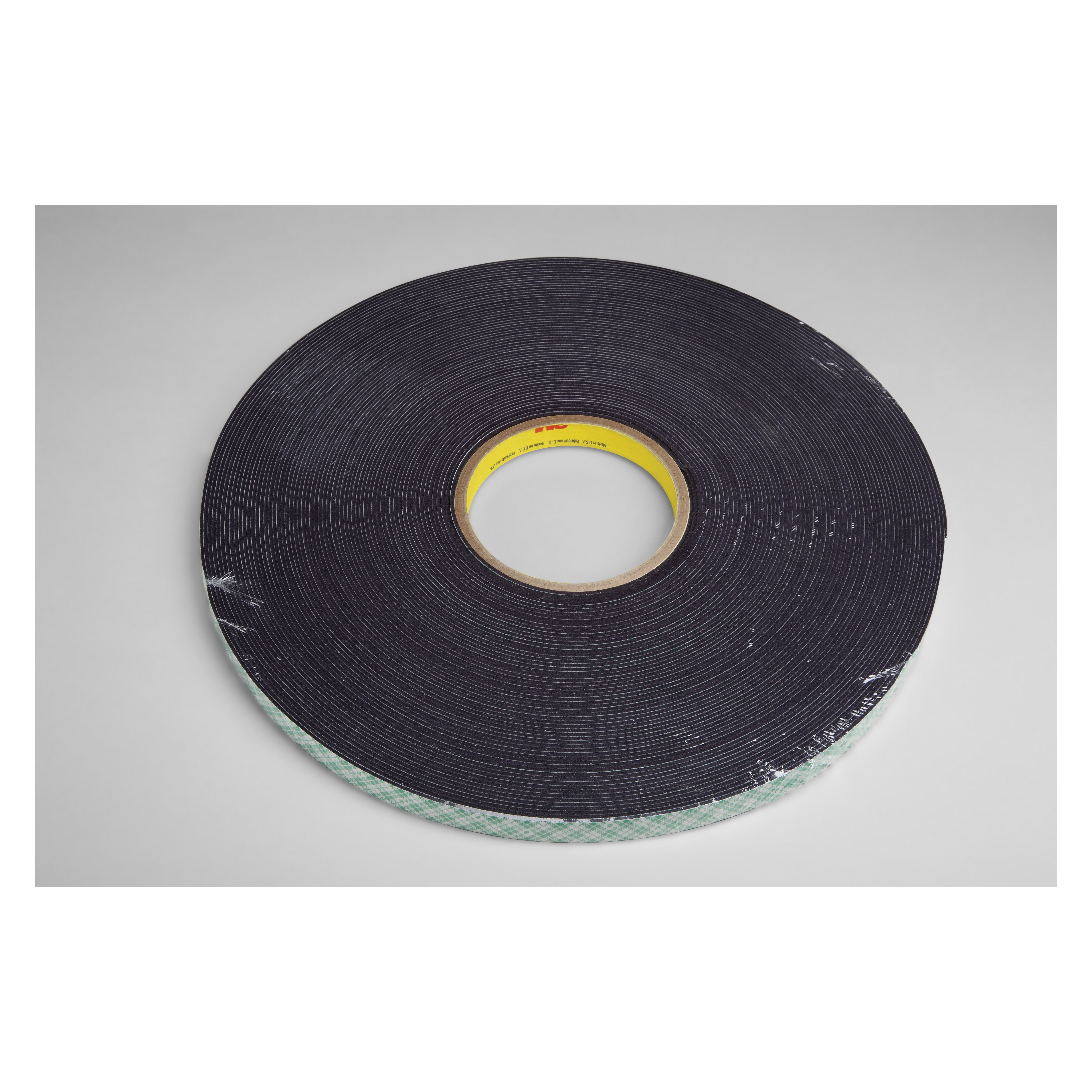 3M™ 021200-14668 Double Coated Tape, 36 yd L x 1/2 in W, 62 mil THK, Acrylic Adhesive, Urethane Foam Backing, Black