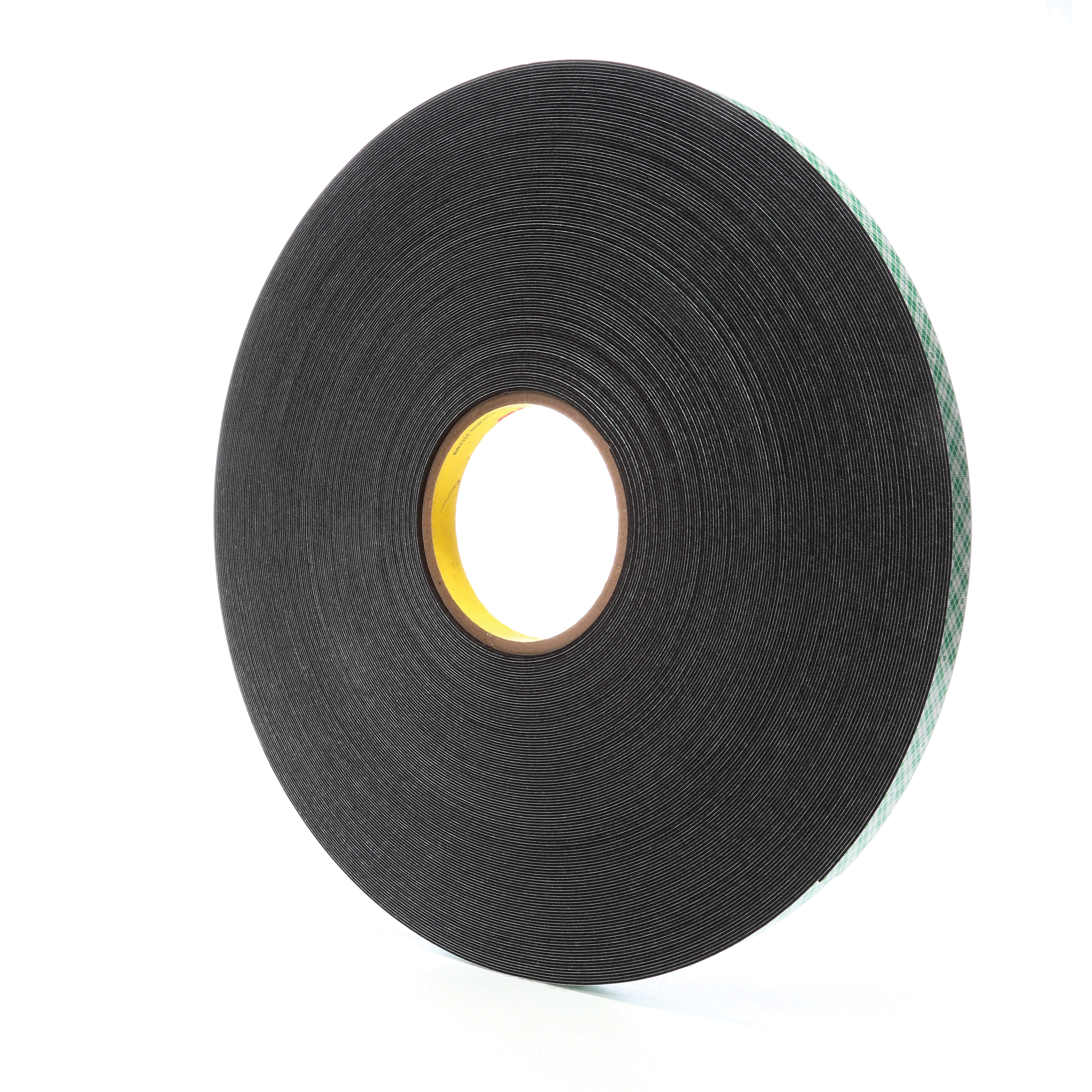 3M™ 021200-14667 Double Coated Tape, 72 yd L x 1/2 in W, 31 mil THK, Acrylic Adhesive, Urethane Foam Backing, Black