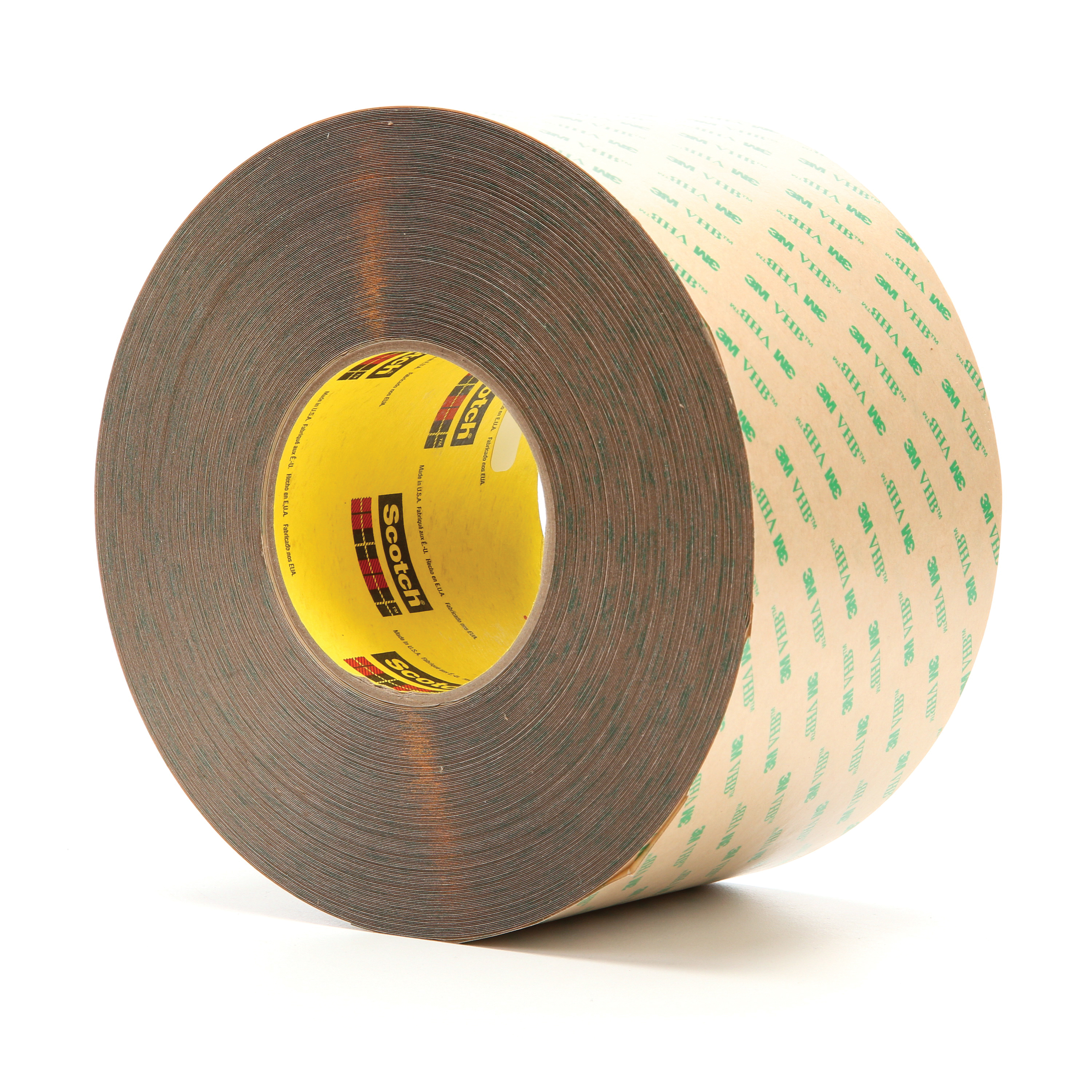 3M™ VHB™ 021200-15685 High Performance Low Tack Adhesive Transfer Tape, 60 yd L x 4 in W, 14.2 mil THK, 10 mil 100MP Acrylic Adhesive, Clear