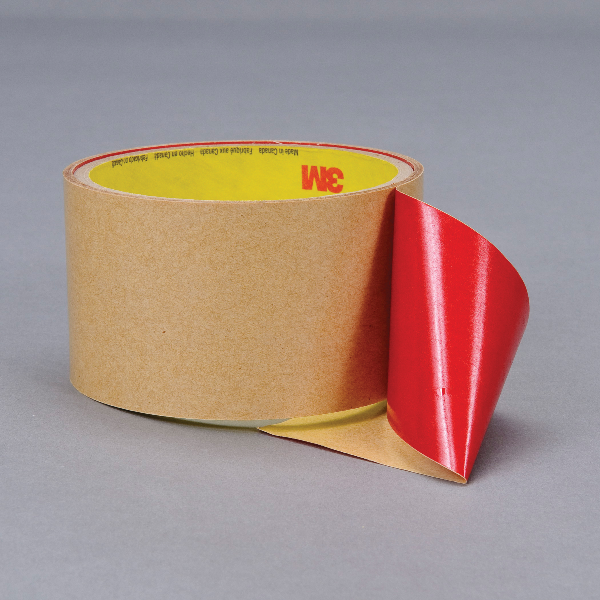 3M™ 021200-16055 Non-Repulpable Double Coated Splicing Tape, 36 yd L x 1 in W, 4 mil THK, 400HT Acrylic Adhesive, Polyester Backing, Red