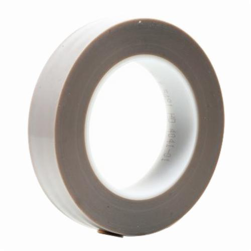 3M™ 021200-16940 Heavy Duty Film Tape, 36 yd L x 1/2 in W, 6.8 mil THK, Silicone Adhesive, 5 mil Skived PTFE Backing, Gray