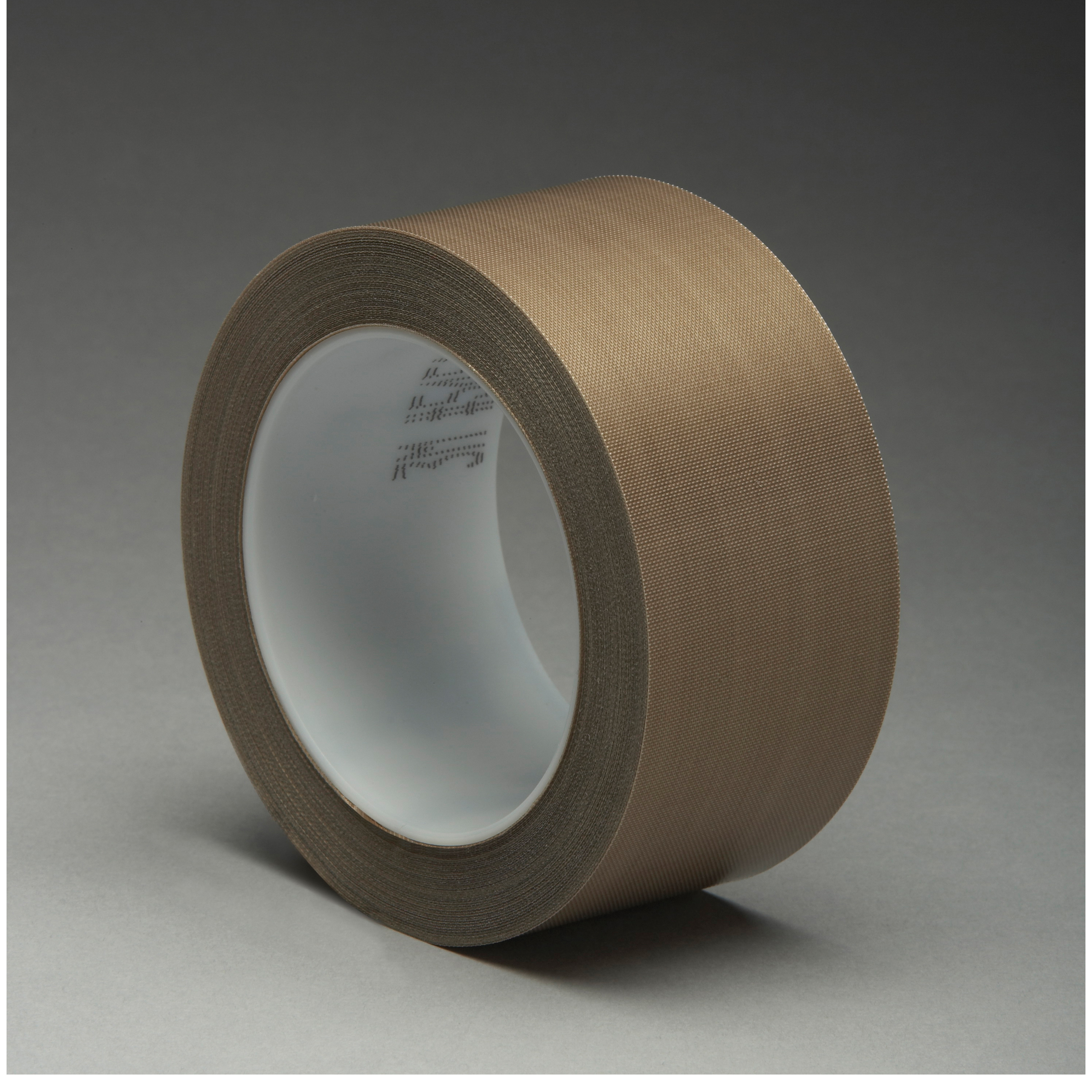 3M™ 021200-16150 Pressure Sensitive Glass Cloth Tape, 36 yd L x 1/2 in W, 5.6 mil THK, Silicon Adhesive, Woven Glass Cloth Impregnated with PTFE Backing, Brown