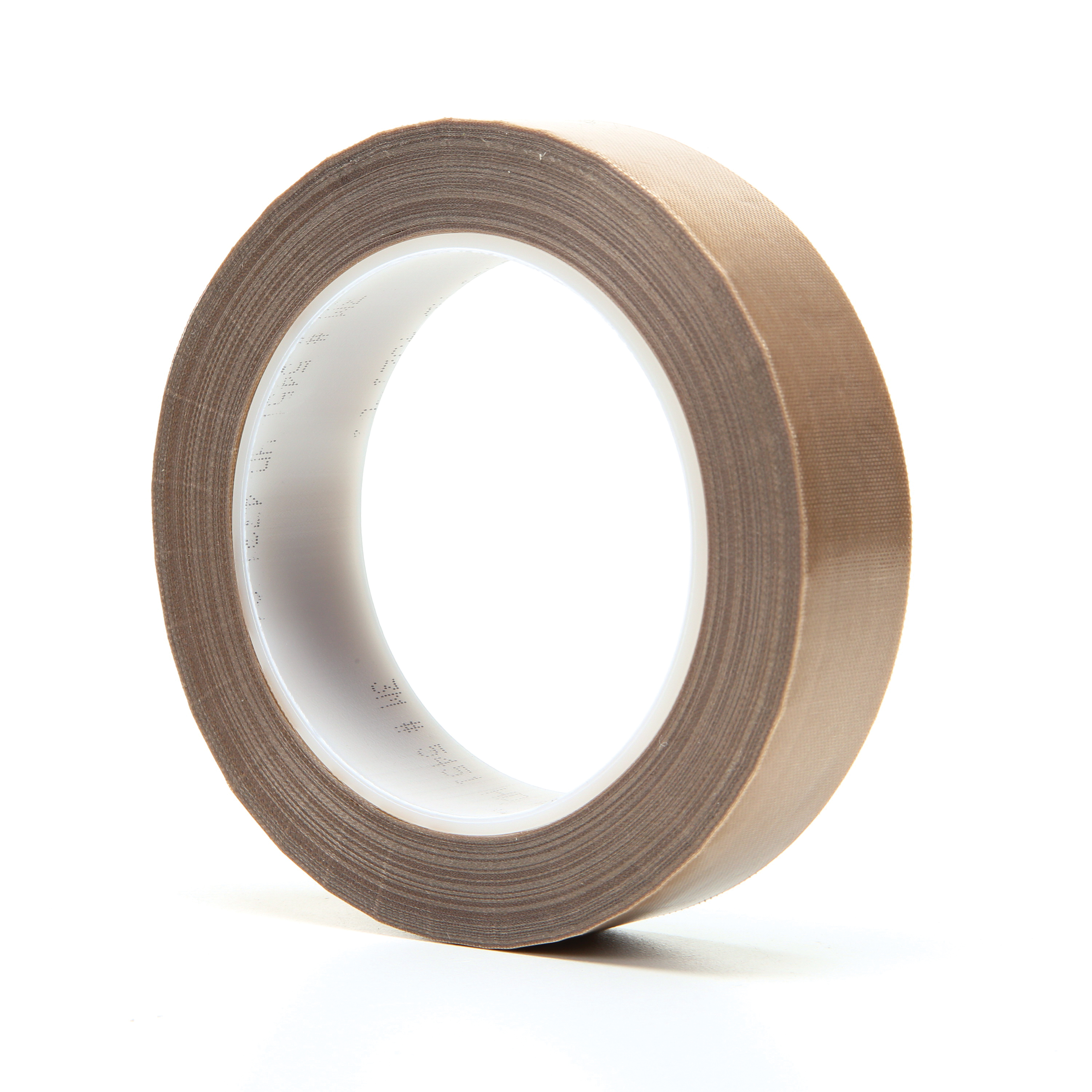 3M™ 021200-16152 Pressure Sensitive Glass Cloth Tape, 36 yd L x 1 in W, 5.6 mil THK, Silicon Adhesive, Woven Glass Cloth Impregnated with PTFE Backing, Brown