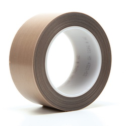 3M™ 021200-16154 5451 Pressure Sensitive Glass Cloth Tape, 36 yd L x 2 in W, 5.6 mil THK, Silicone Adhesive, 3.2 mil Woven Glass Cloth Impregnated with PTFE Backing, Brown