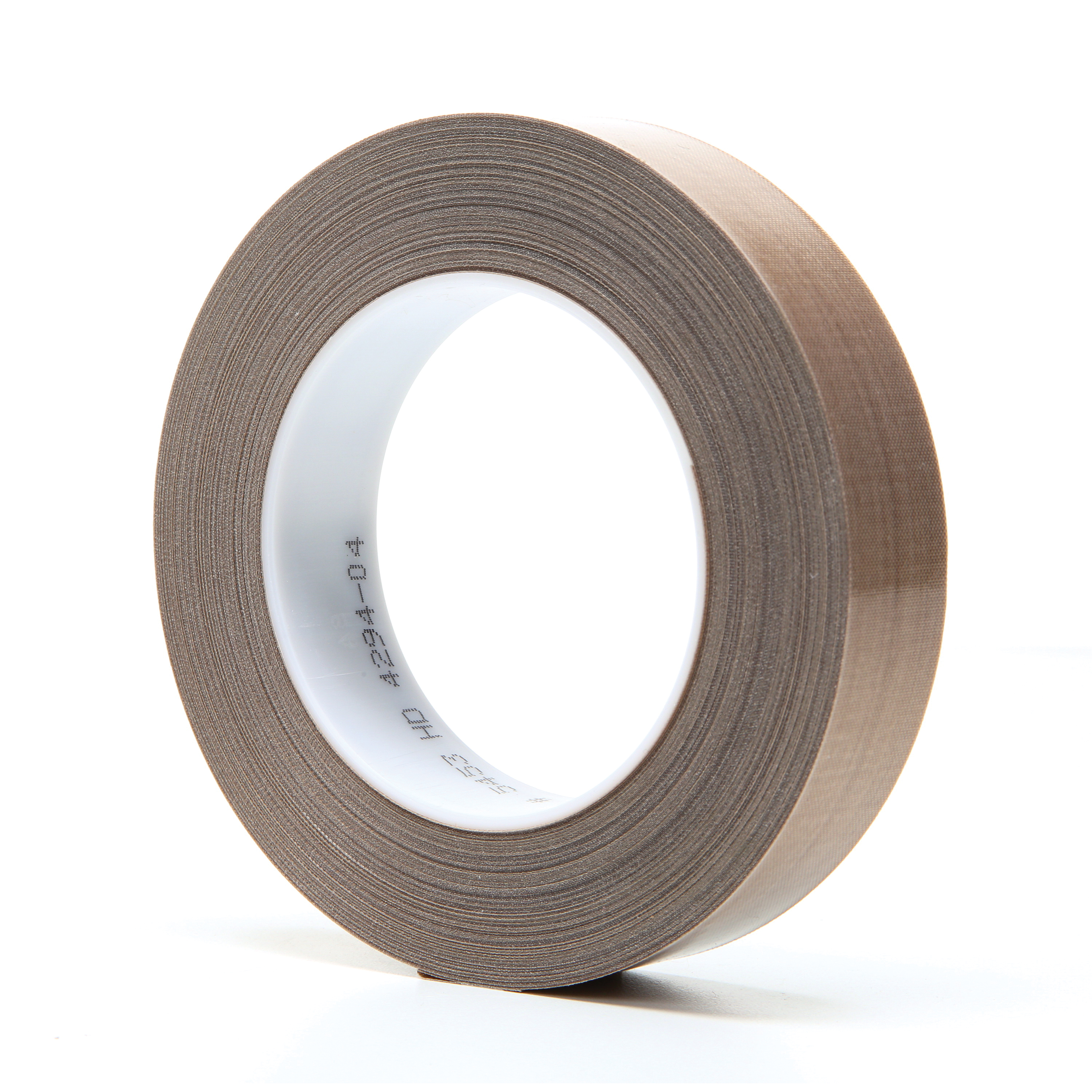 3M™ 021200-16160 Pressure Sensitive Glass Cloth Tape, 36 yd L x 1 in W, 8.2 mil THK, Silicon Adhesive, Woven Glass Cloth Impregnated with PTFE Backing, Brown