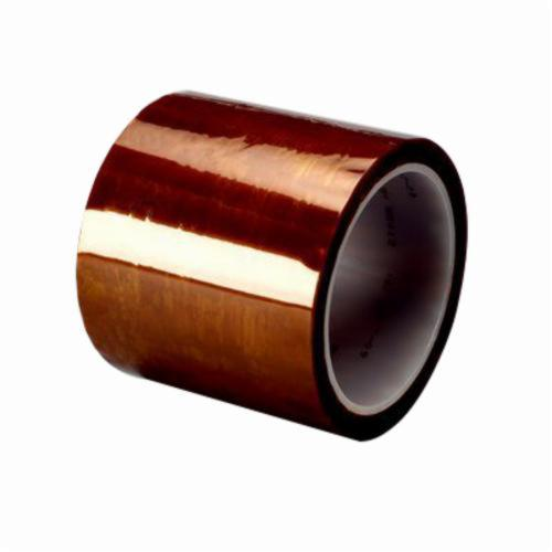 3M™ 021200-16173 Flame Retardant Insulating Tape, 36 yd L x 3/4 in W, 2.7 mil THK, Silicon Adhesive, DuPont™ Kapton® Polyimide Backing, Amber