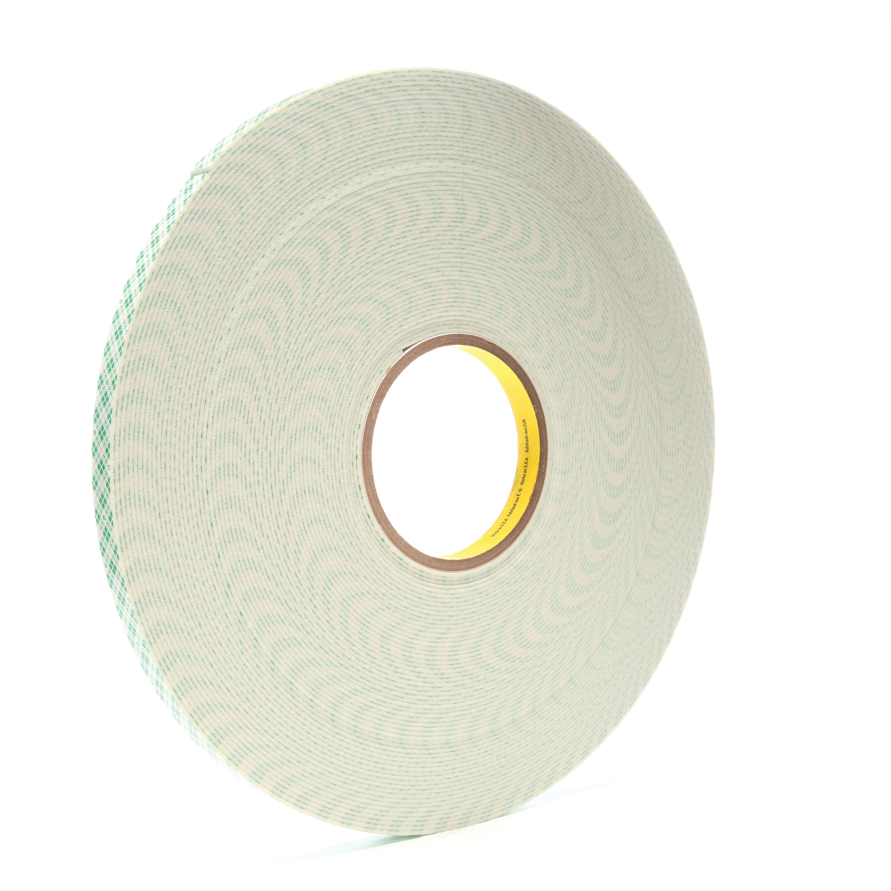 3M™ 021200-17054 Double Coated Tape, 36 yd L x 1/2 in W, 62 mil THK, Acrylic Adhesive, Urethane Foam Backing, Off-White
