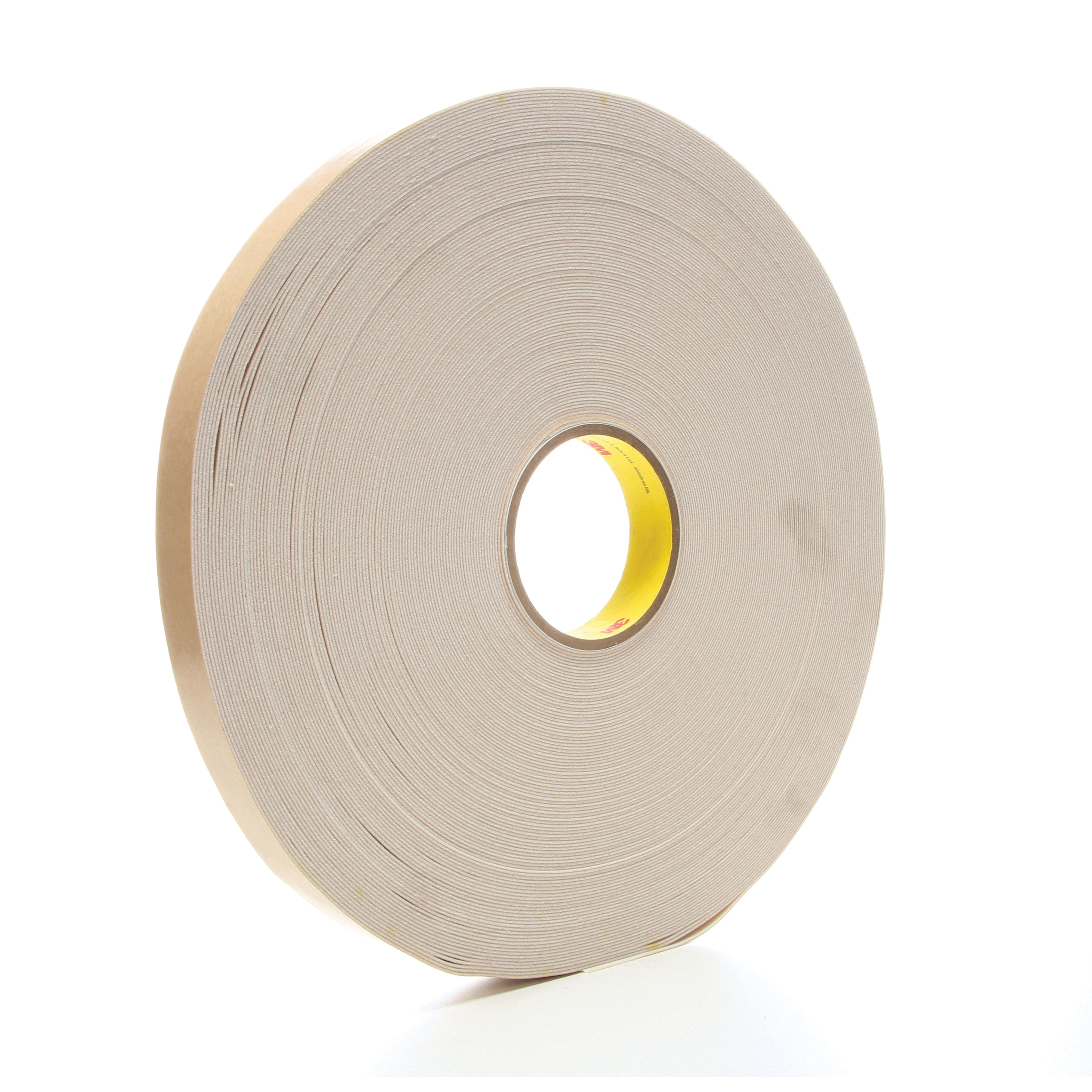3M™ 021200-17662 Double Coated Tape, 72 yd L x 1 in W, 45 mil THK, Rubber Adhesive, Urethane Foam Backing, Natural