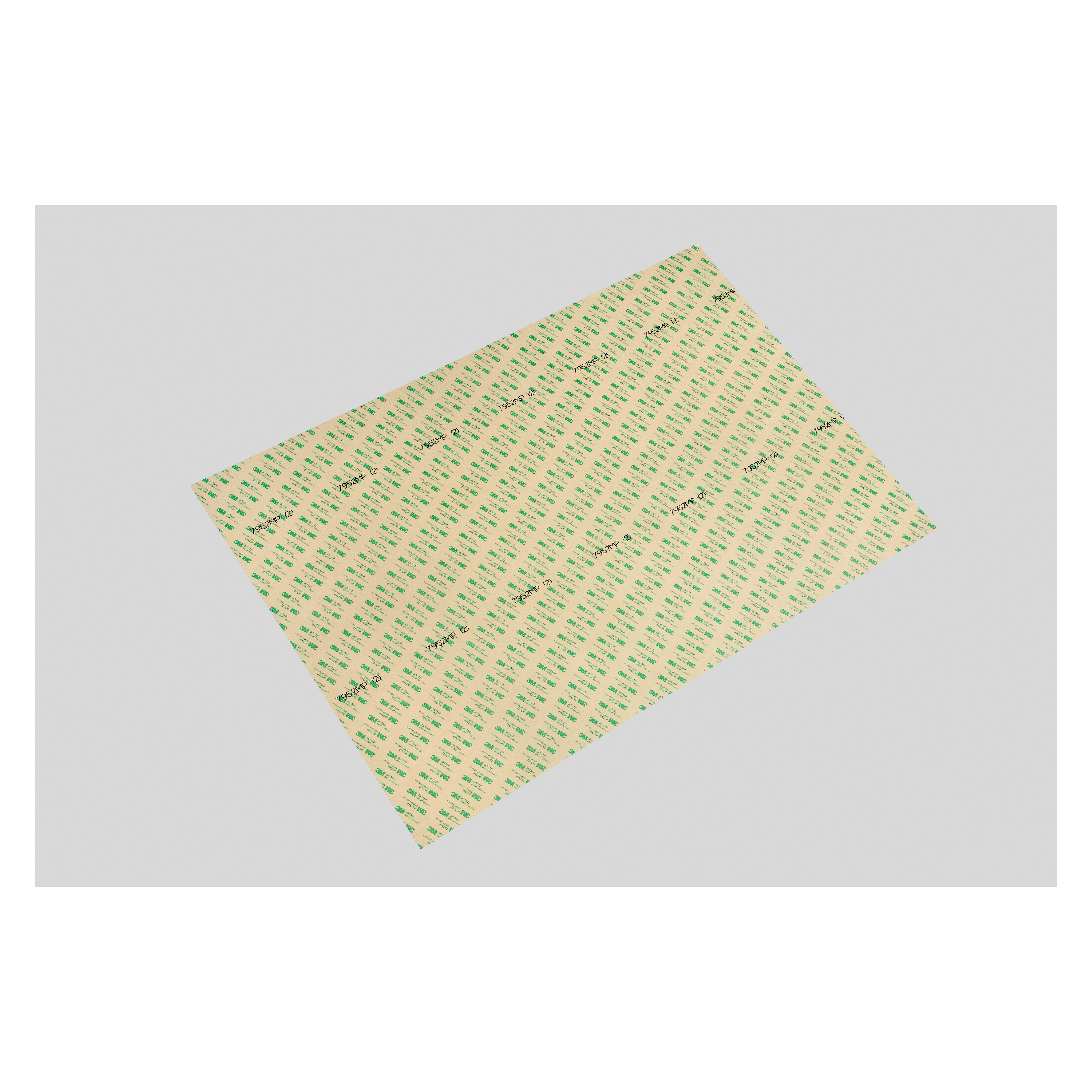 3M™ 021200-18408 Double Linered Medium Tack Adhesive Transfer Tape, 36 in L x 24 in W, 10.4 mil THK, 2 mil 200MP Acrylic Adhesive, Polyester Backing, Clear