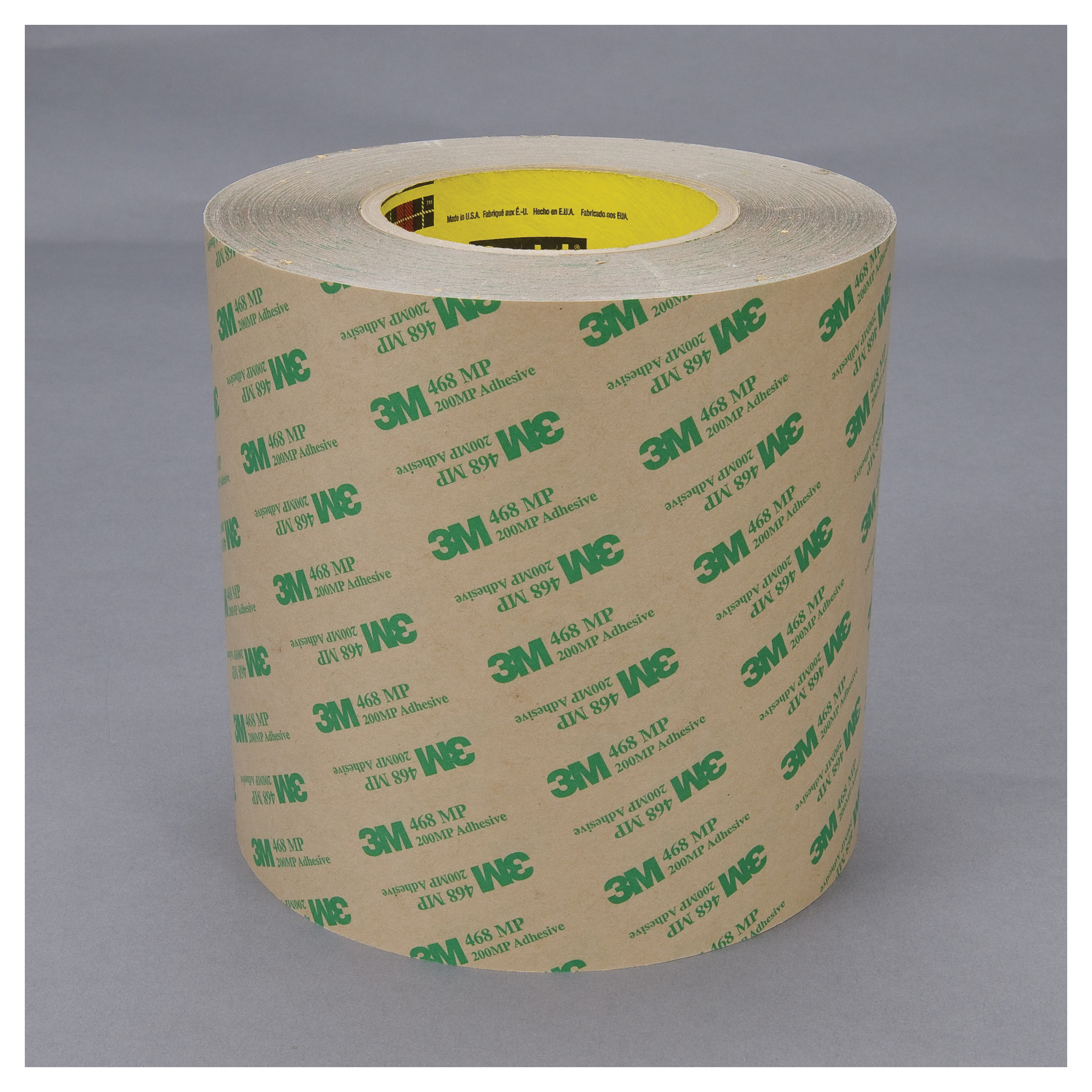 3M™ 021200-18881 High Performance Medium Tack Adhesive Transfer Tape, 60 yd L x 13 in W, 9.2 mil THK, 5 mil 200MP Acrylic Adhesive, Clear