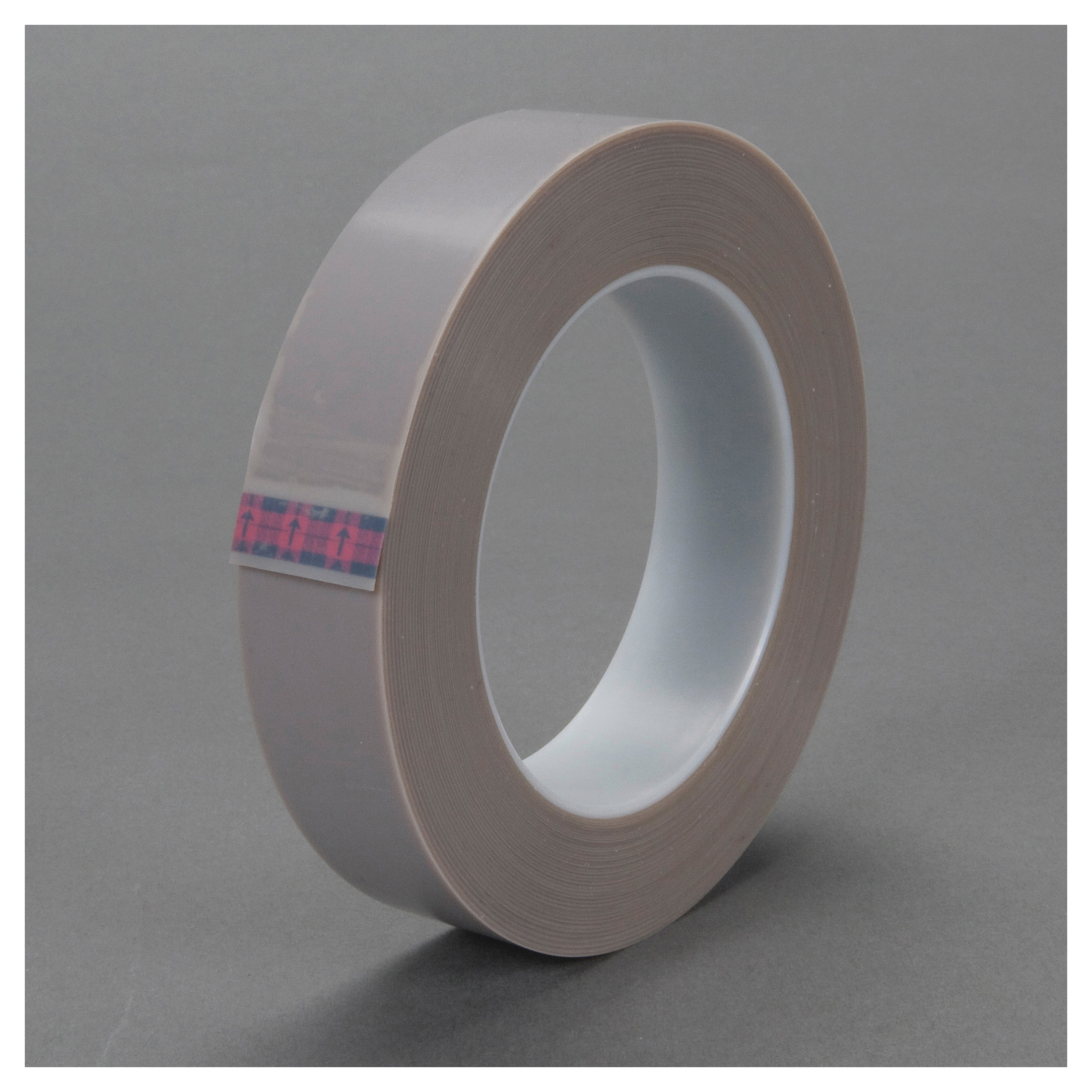 3M™ 021200-18895 Heavy Duty Film Tape, 36 yd L x 3/4 in W, 6.8 mil THK, Silicon Adhesive, Skived PTFE Backing, Gray
