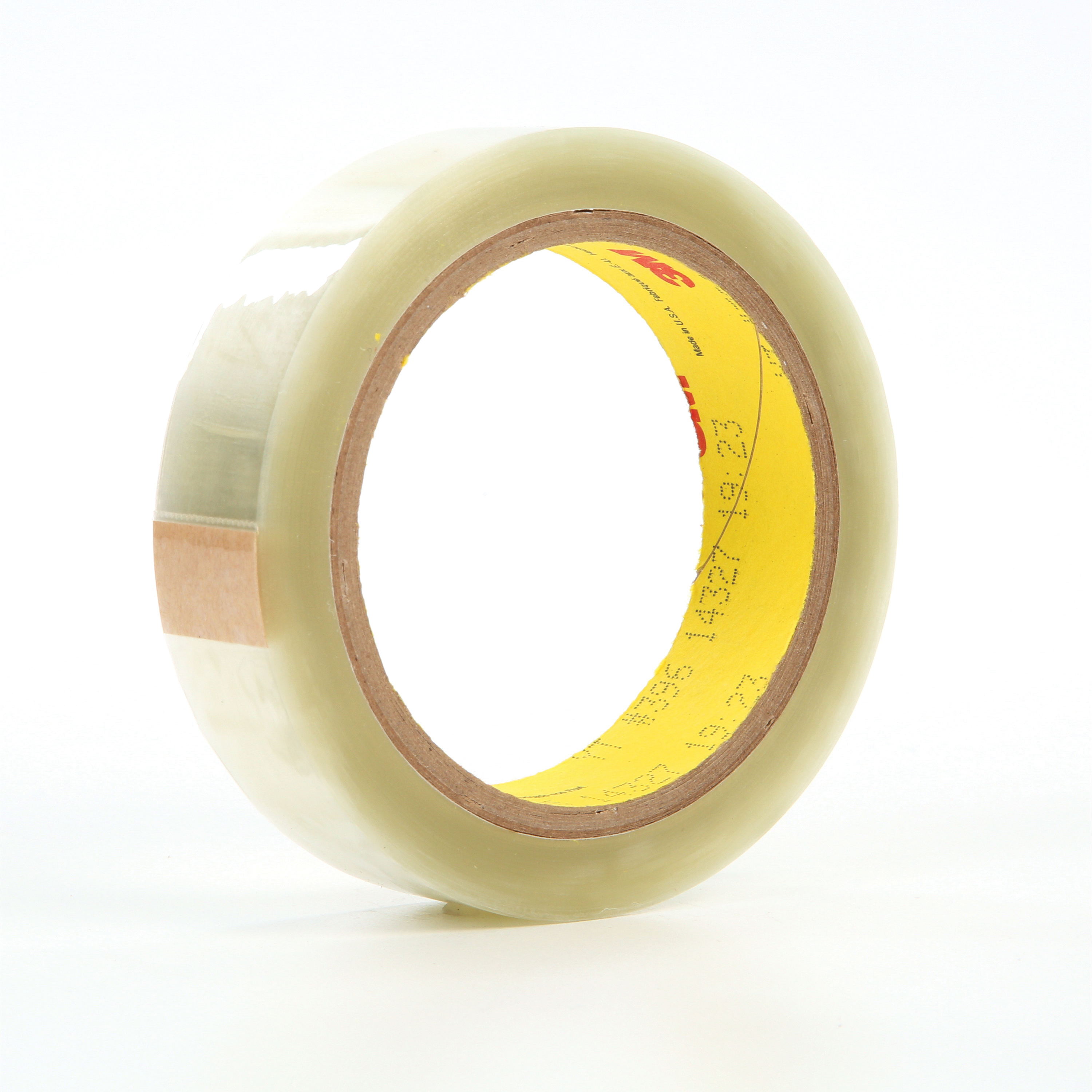 3M™ 021200-19084 Super Bond Film Tape, 36 yd L x 1 in W, 4.1 mil THK, Rubber Adhesive, Polyester Backing, Transparent