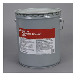 3M™ 021200-21463 5200 Very High Strength Adhesive Sealant, 5 gal Pail, Medium Paste, White, 1.36