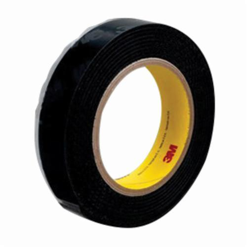 3M™ Scotchmate™ 021200-40650 General Performance Reclosable Loop Fastener Tape, 25 yd L x 1 in W, 0.15 in THK Engaged, High Tack Rubber Adhesive, Woven Nylon Backing, Black