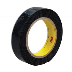 3M™ 021200-23062 General Performance Reclosable Loop Fastener Tape, 50 yd L x 1-1/2 in W, 0.15 in THK Engaged, High Tack Rubber Adhesive, Woven Nylon Backing, Black
