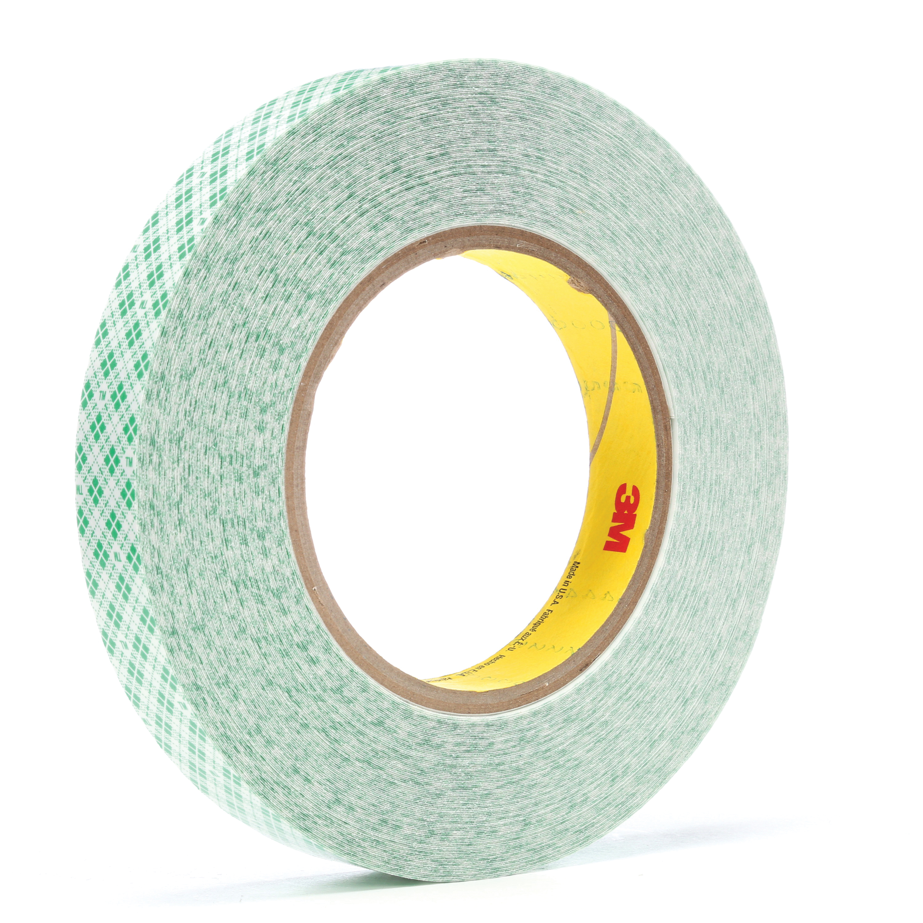 3M™ 021200-23204 Double Coated High Tack Film Tape, 36 yd L x 3/4 in W, 12.7 mil THK, 760 Synthetic Rubber Adhesive, High Density Polyethylene Backing, White