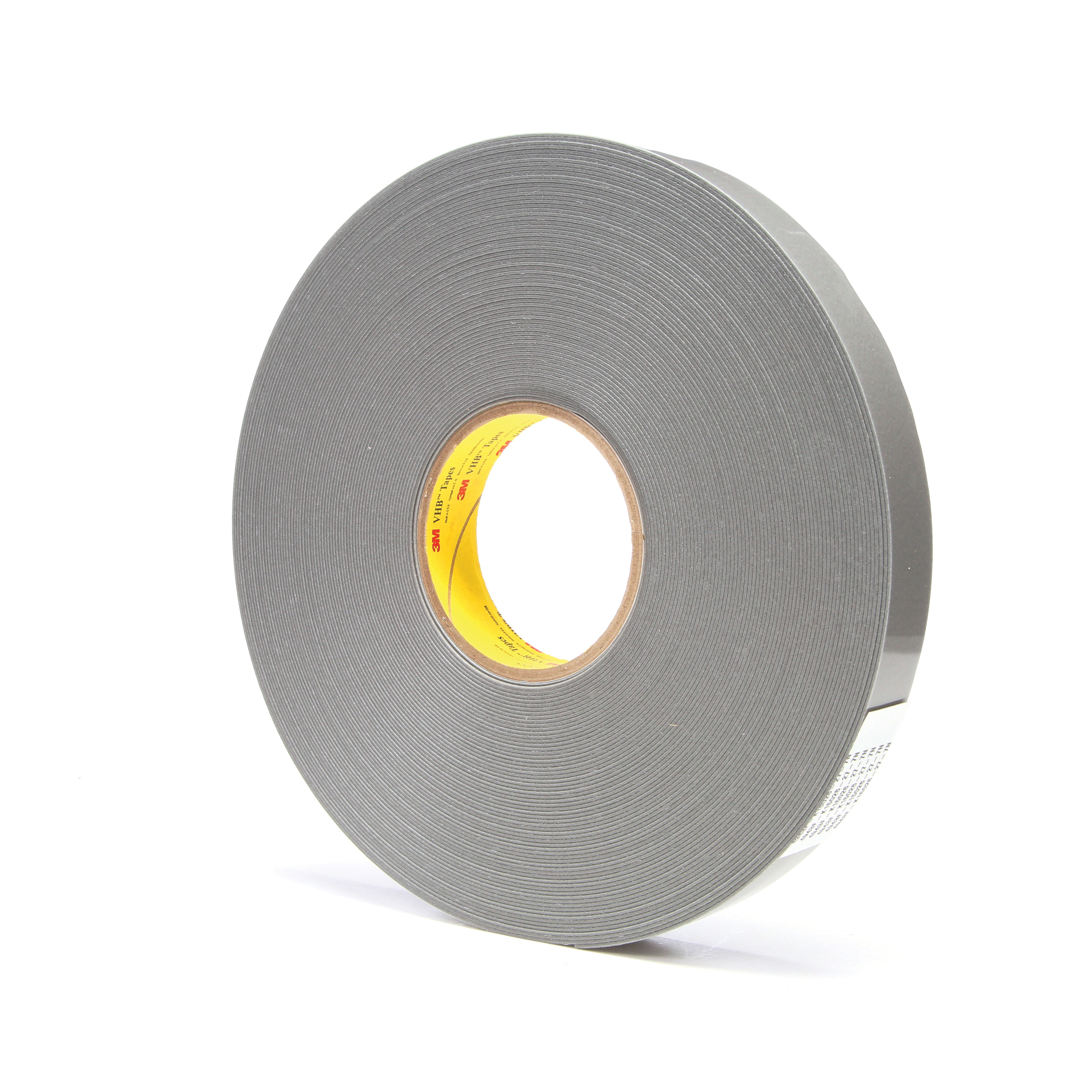 3M™ VHB™ 021200-24373 Pressure Sensitive Double Sided Bonding Tape, 36 yd L x 1 in W, 0.062 in THK, Low Temperature Acrylic Adhesive, Acrylic Foam Backing, Gray