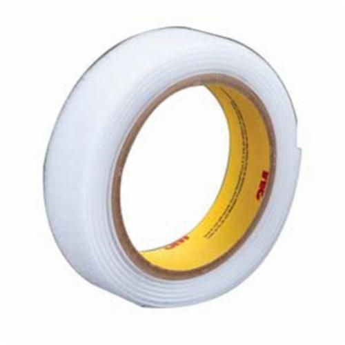 3M™ Scotchmate™ 021200-26545 Non-Adhesive Reclosable Hook Fastener Tape, 50 yd L x 3/4 in W, 0.12 in THK Engaged, Woven Nylon Backing, White