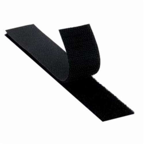 3M™ Scotchmate™ 021200-23760 Non-Adhesive Reclosable Hook Fastener Tape, 50 yd L x 2 in W, 0.12 in THK Engaged, Woven Polyester Backing, Black
