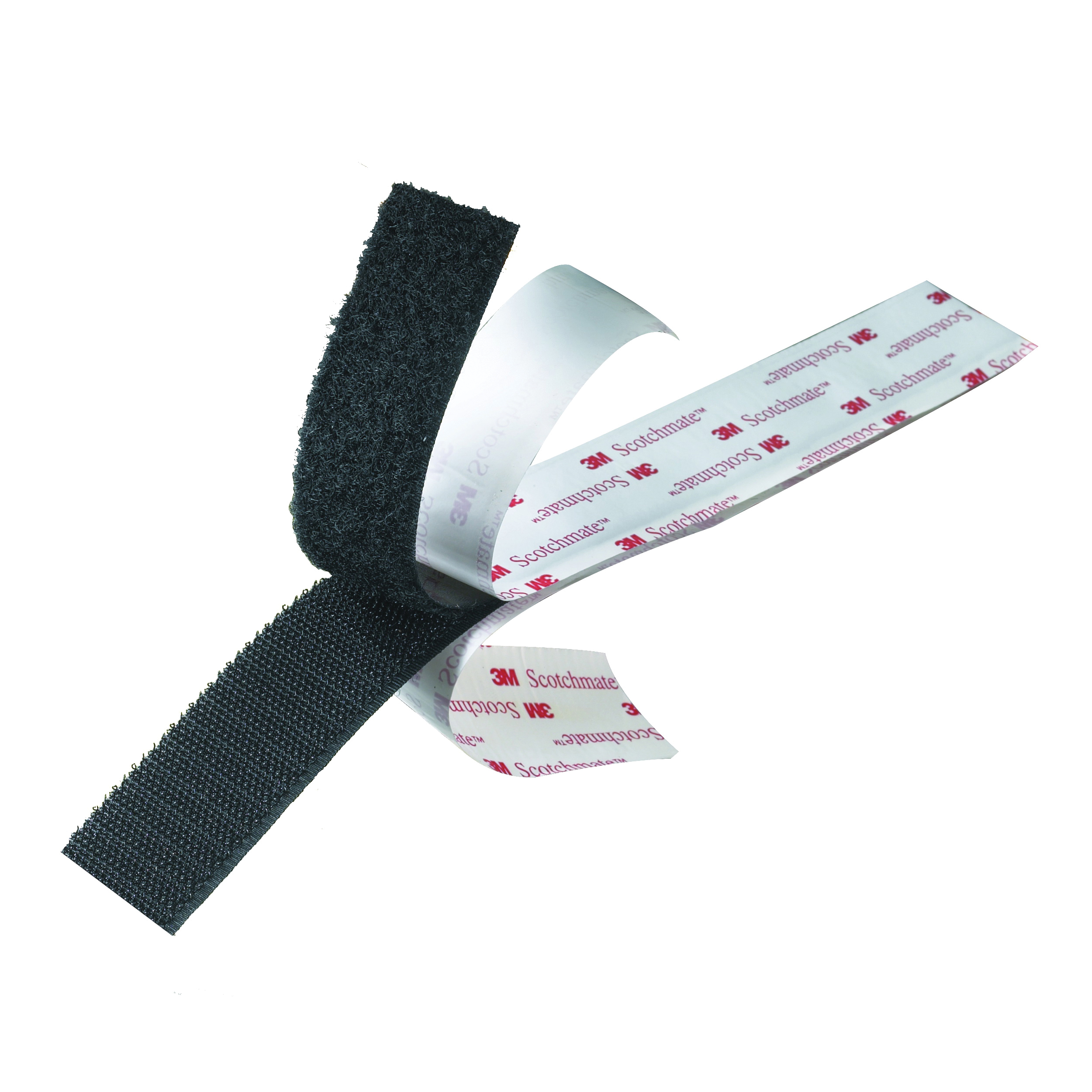 3M™ 021200-23806 Reclosable Hook Fastener Tape, 50 yd L x 1-1/2 in W, 0.15 in THK Engaged, Modified Rubber Adhesive, Woven Nylon Backing, White