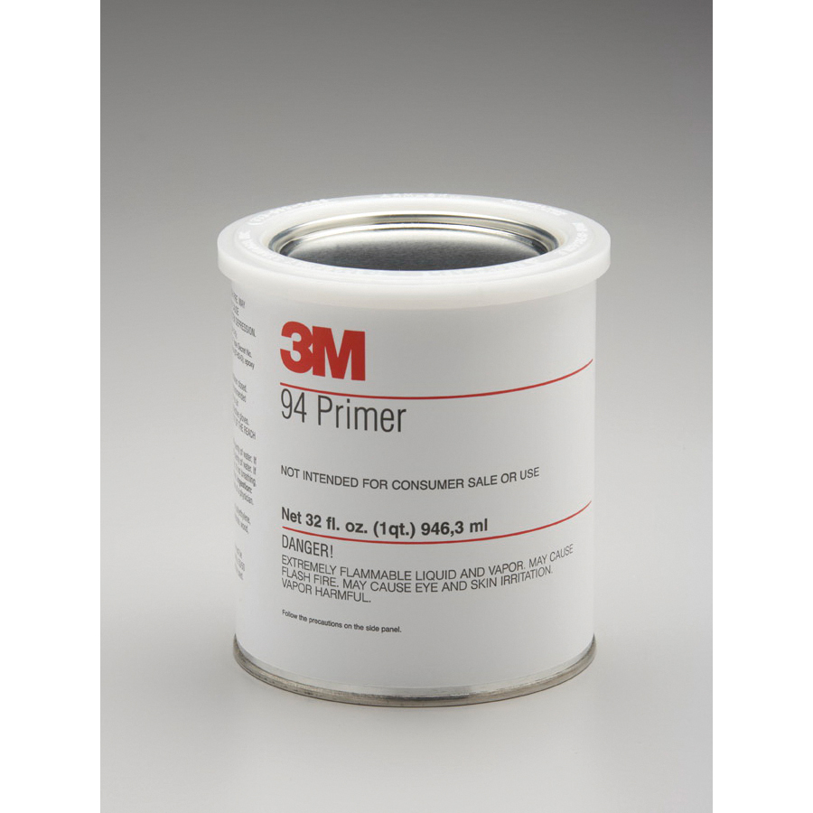 3M™ 021200-23929 94 Tape Primer, 1 qt Pail, Liquid, Clear Light Yellow, 0.82