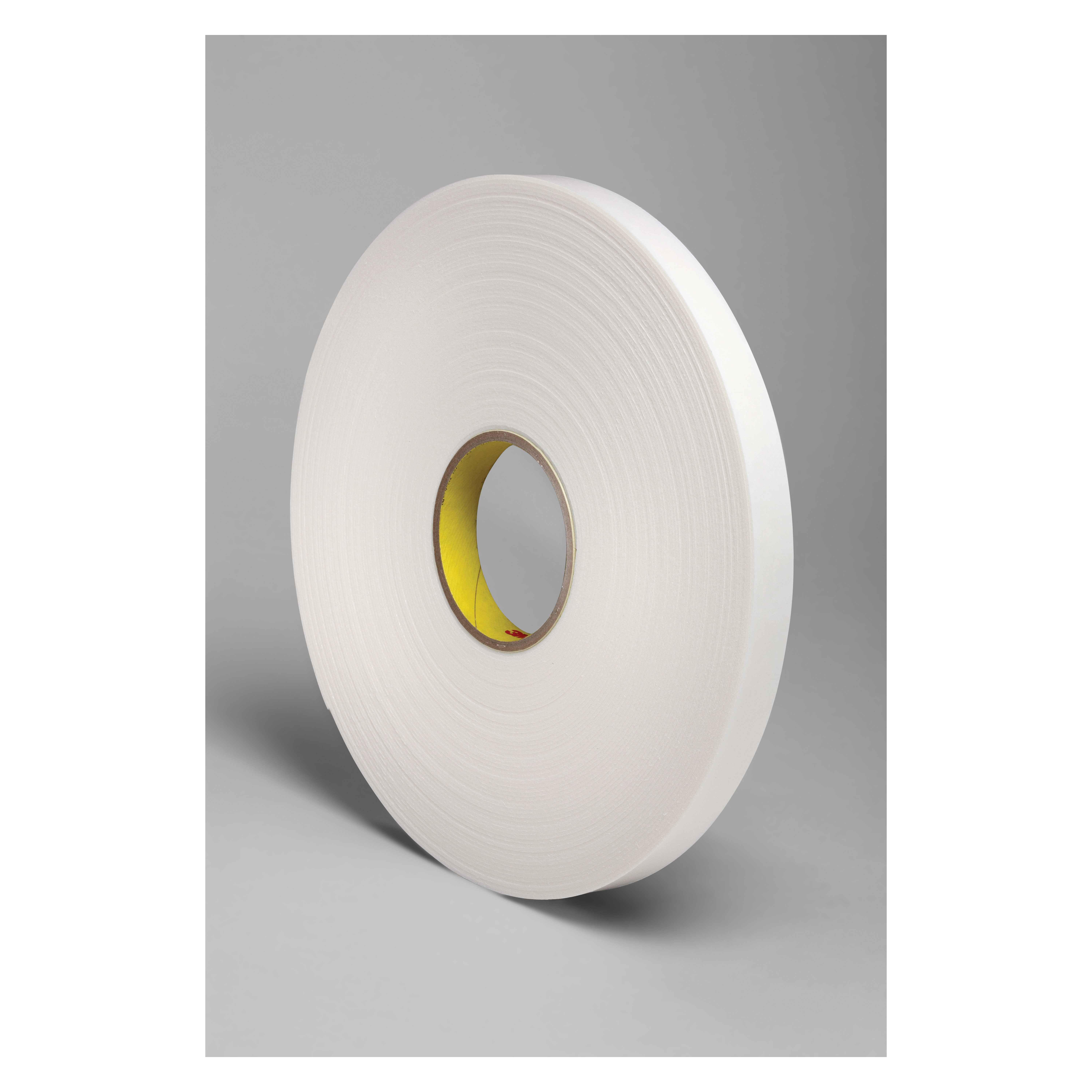 3M™ 021200-24303 Double Coated Tape, 36 yd L x 3/4 in W, 62 mil THK, Rubber Adhesive, Polyethylene Foam Backing, White