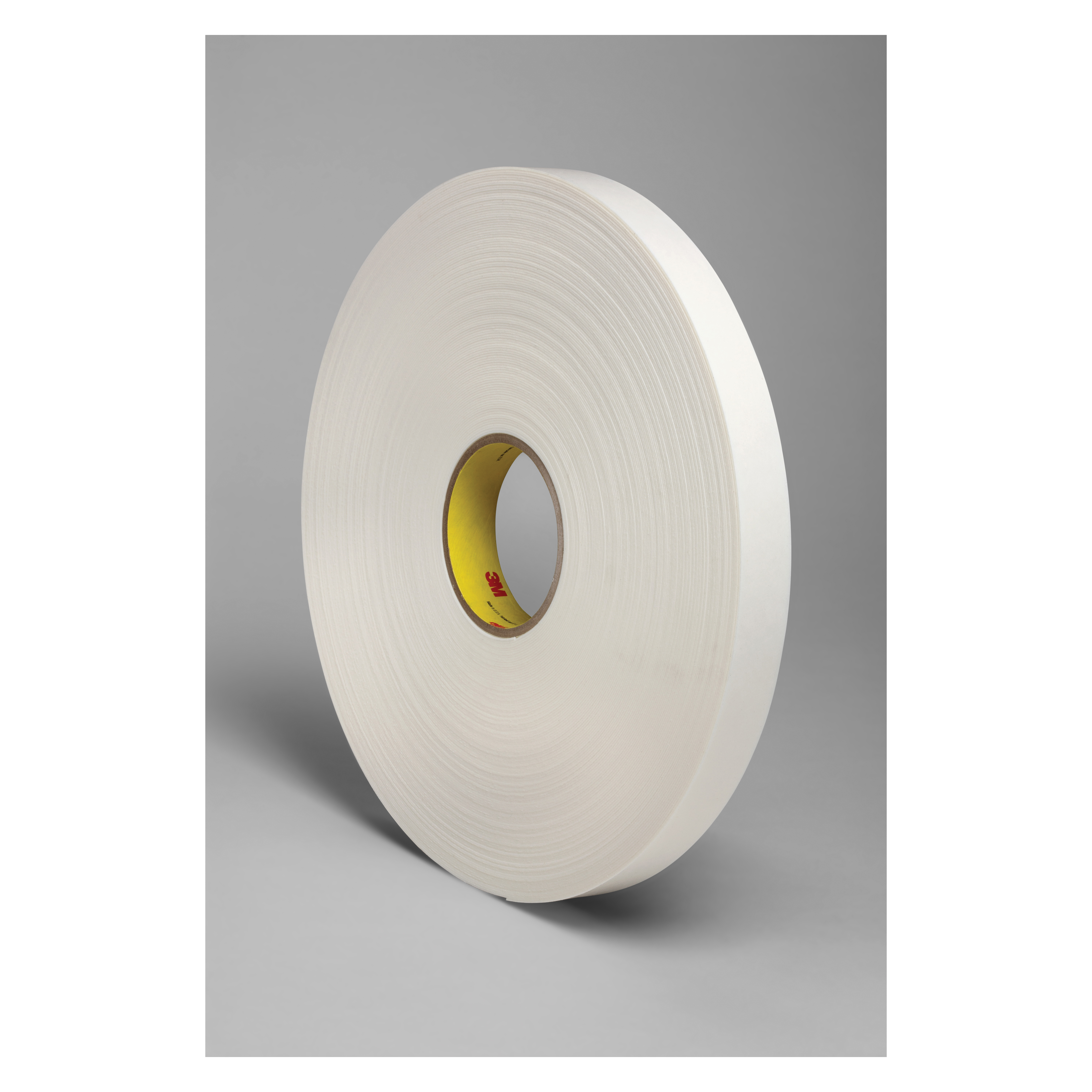 3M™ 021200-24311 Double Coated Tape, 72 yd L x 1 in W, 31 mil THK, Rubber Adhesive, Polyethylene Foam Backing, White