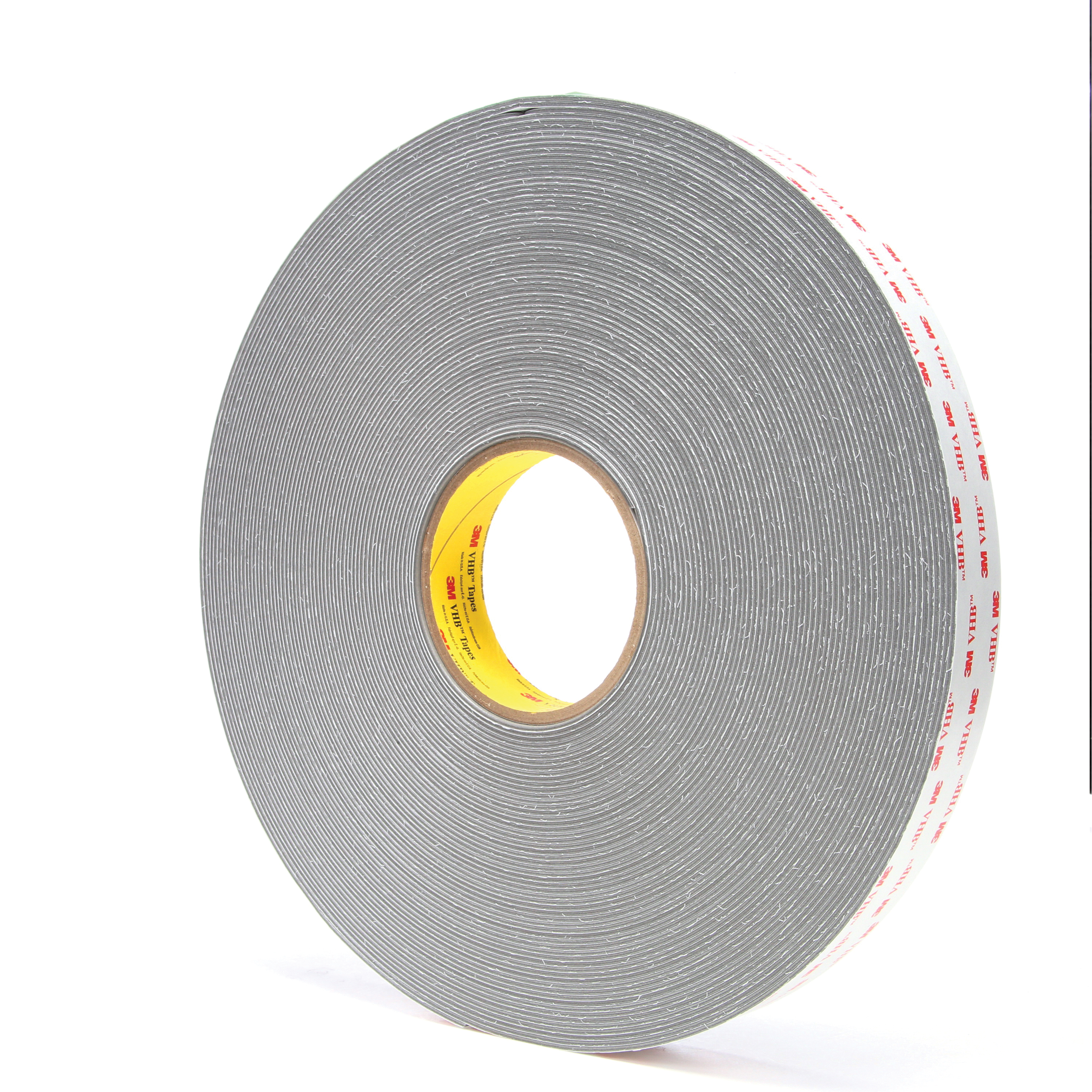 3M™ VHB™ 021200-24375 4956 Pressure Sensitive Film Tape, 36 yd L x 1 in W, 0.062 in THK, Multi-Purpose Acrylic Adhesive, Acrylic Foam Backing, Gray