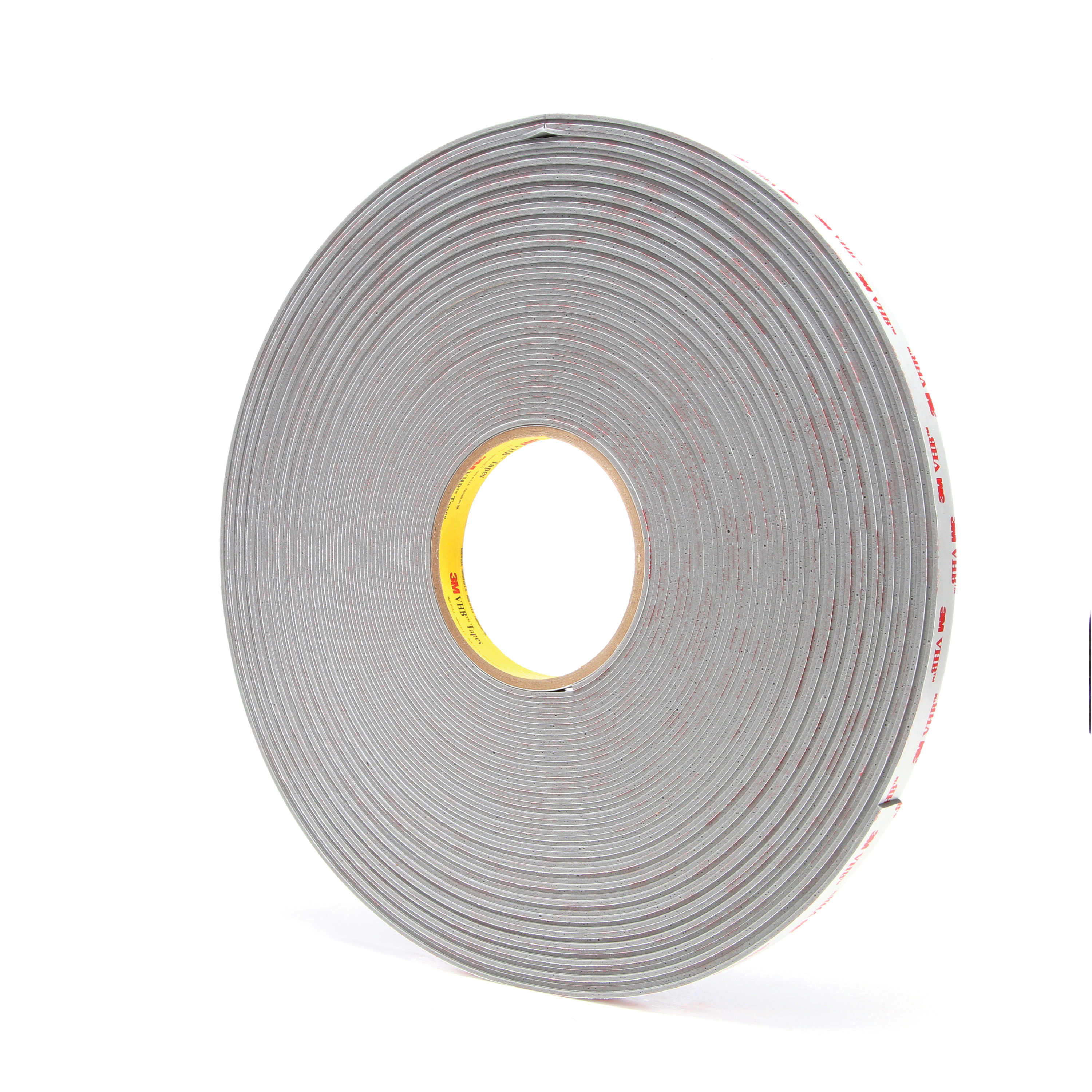 3M™ VHB™ 021200-24376 4956 Pressure Sensitive Double Sided Bonding Tape, 36 yd L x 1/2 in W, 0.062 in THK, Multi-Purpose Acrylic Adhesive, Acrylic Foam Backing, Gray