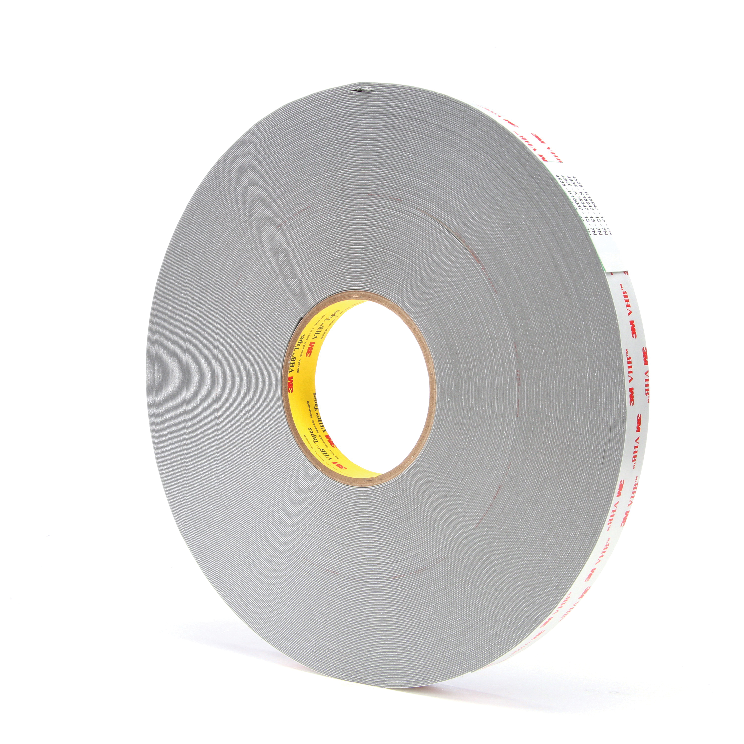 3M™ VHB™ 021200-24384 Pressure Sensitive Double Sided Bonding Tape, 72 yd L x 3/4 in W, 0.025 in THK, Multi-Purpose Acrylic Adhesive, Acrylic Foam Backing, Gray
