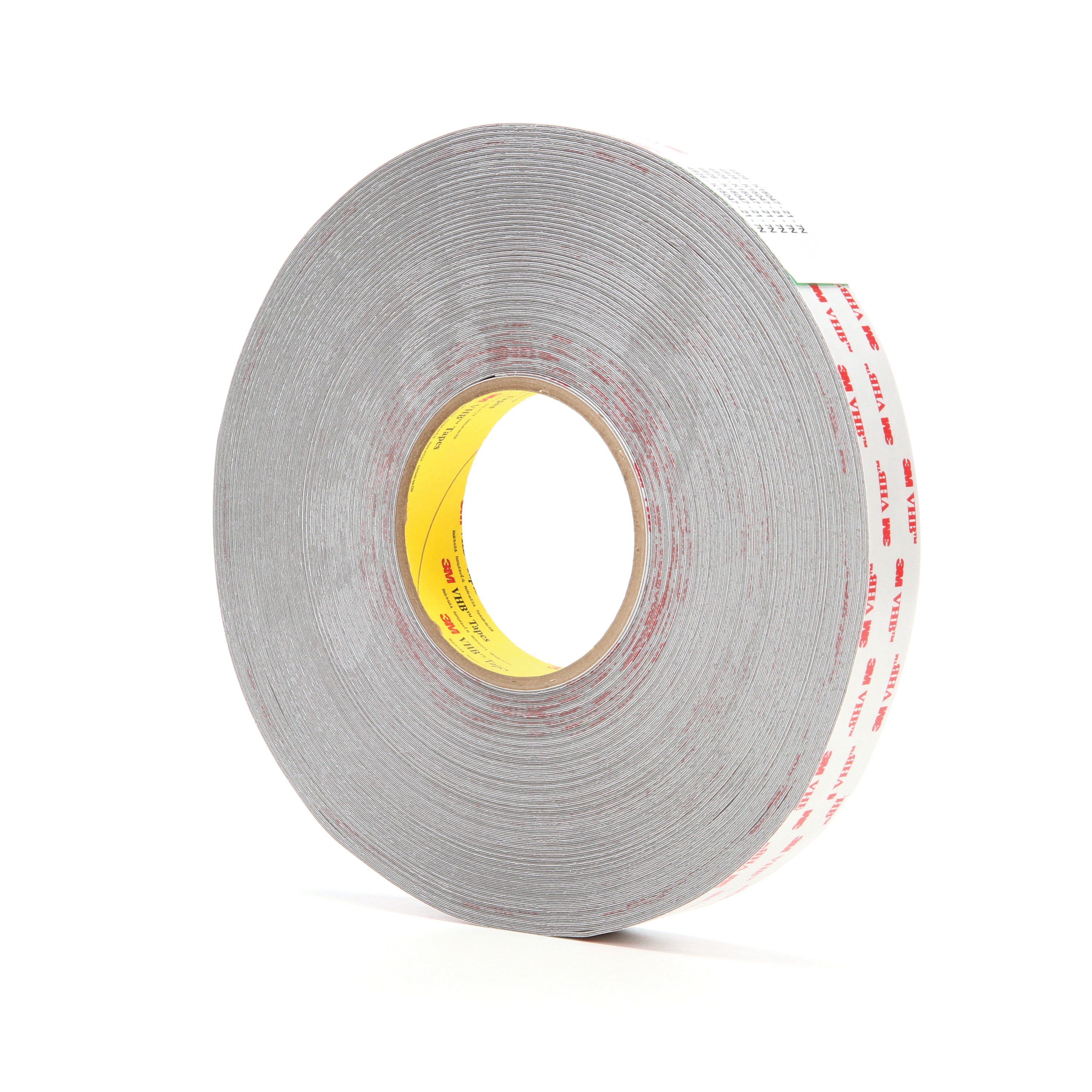 3M™ VHB™ 021200-24386 Pressure Sensitive Double Sided Bonding Tape, 72 yd L x 1 in W, 0.015 in THK, Multi-Purpose Acrylic Adhesive, Acrylic Foam Backing, Gray