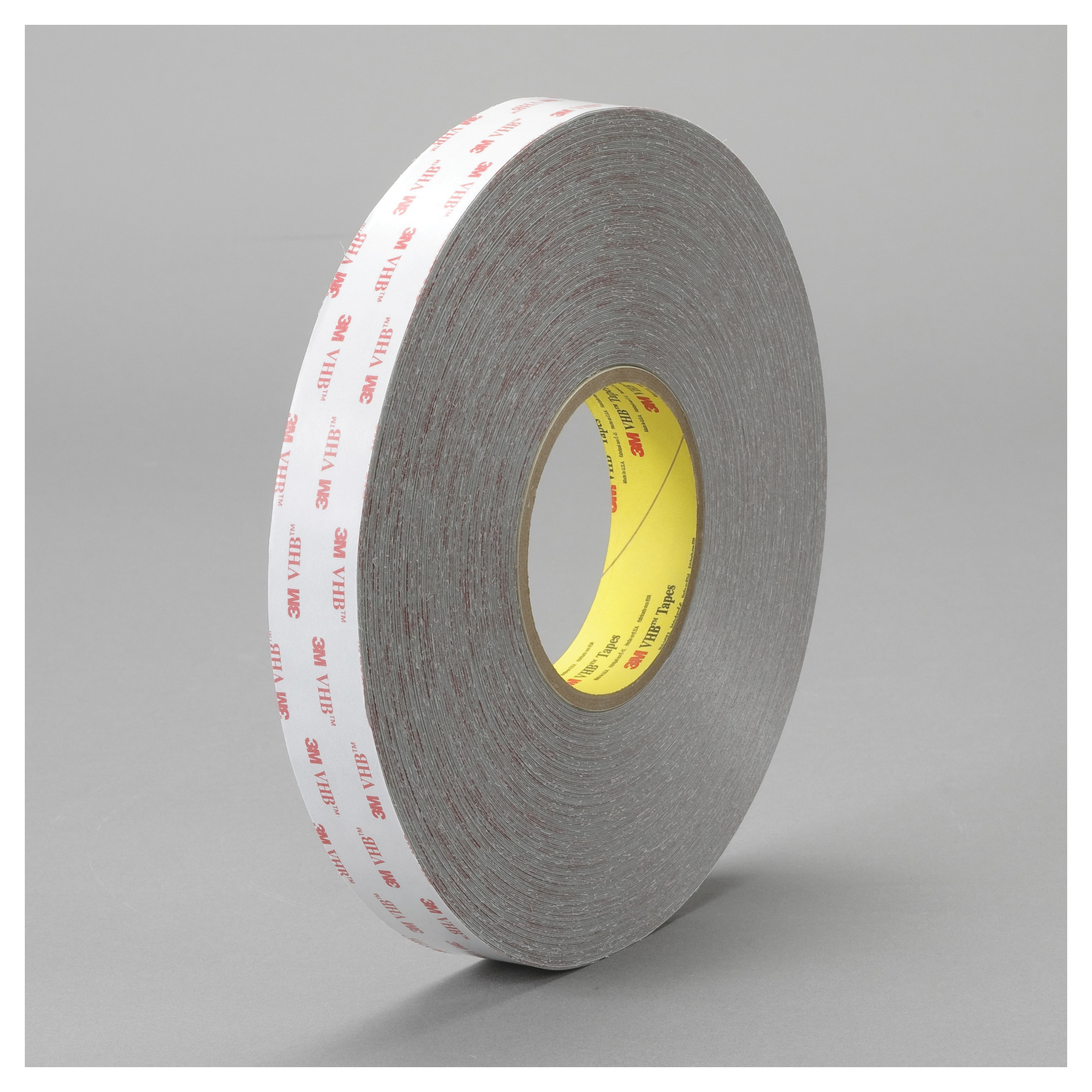 3M™ VHB™ 021200-24387 Pressure Sensitive Double Sided Bonding Tape, 72 yd L x 3/4 in W, 0.015 in THK, Multi-Purpose Acrylic Adhesive, Acrylic Foam Backing, Gray