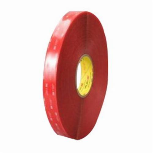 3M™ VHB™ 021200-24391 Pressure Sensitive Double Sided Bonding Tape, 72 yd L x 1/2 in W, 20 mil THK, Acrylic Adhesive, Acrylic Foam Backing, Clear