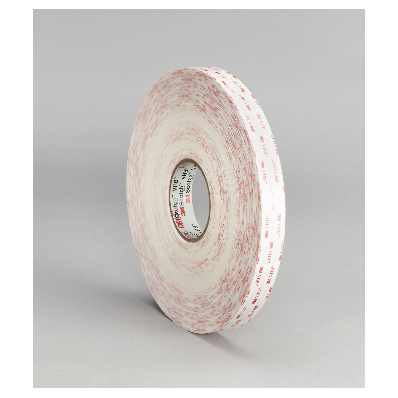 3M™ VHB™ 021200-63383 Pressure Sensitive Double Sided Bonding Tape, 36 yd L x 2 in W, 0.045 in THK, General Purpose Acrylic Adhesive, Acrylic Foam Backing, White