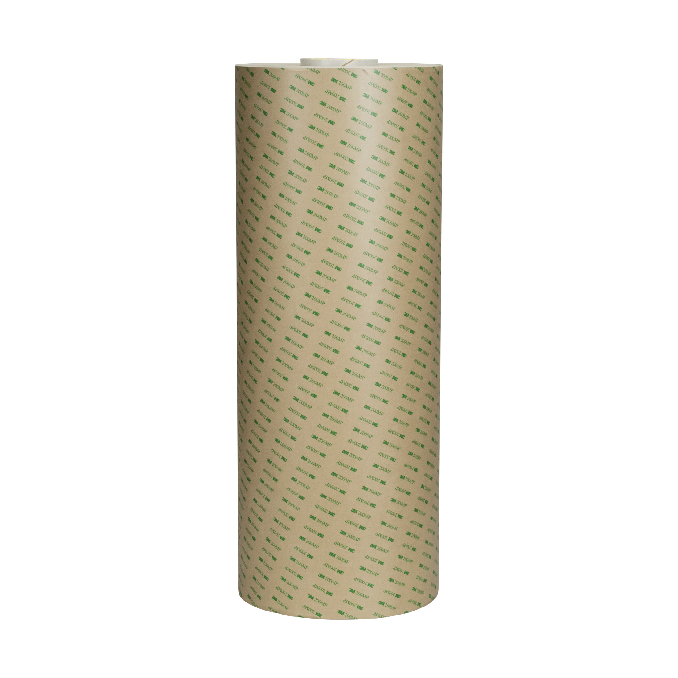3M™ 021200-24640 High Performance Medium Tack Adhesive Transfer Tape, 60 yd L x 24 in W, 8.2 mil THK, 2 mil 200MP Acrylic Adhesive, Clear
