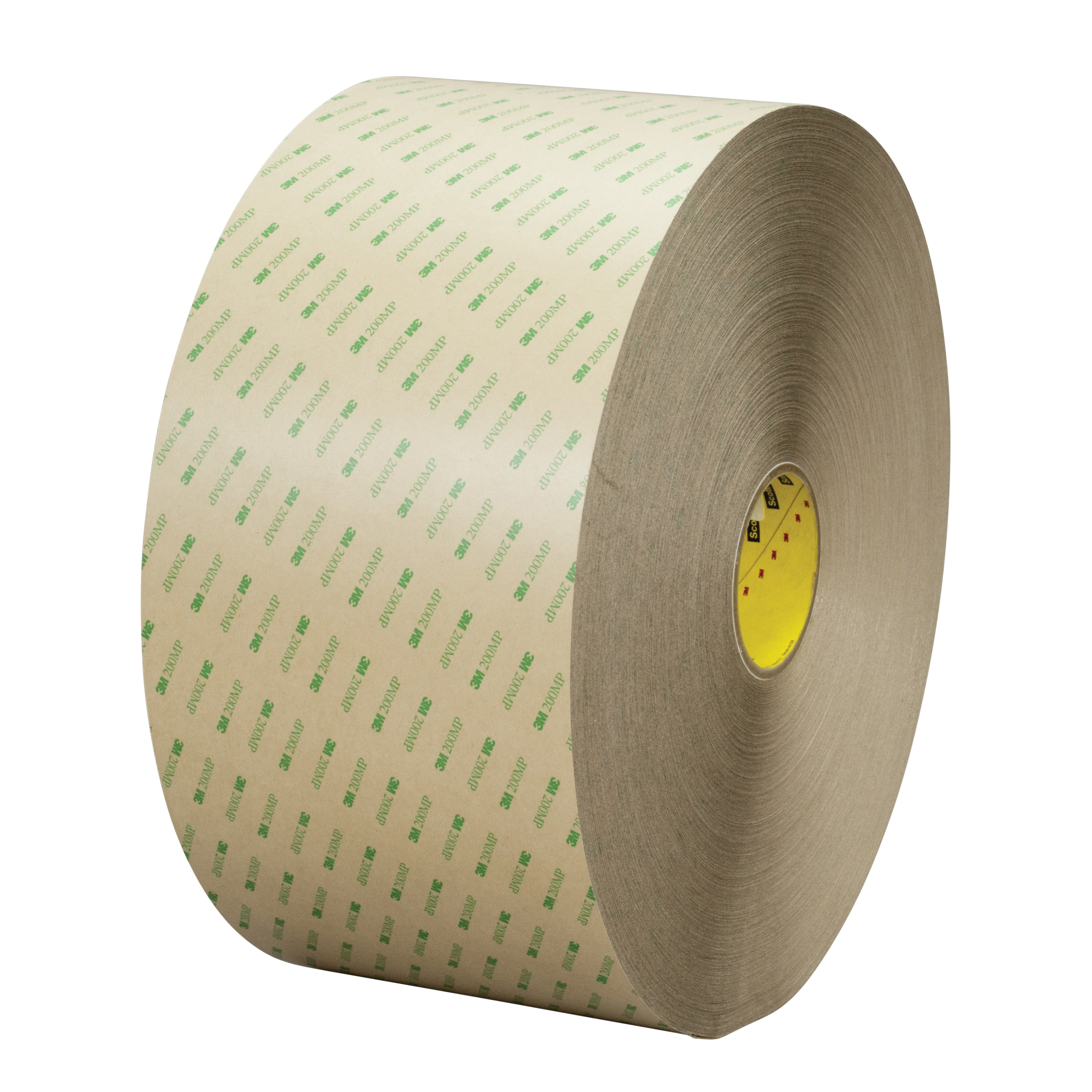 3M™ 021200-24644 High Performance Medium Tack Adhesive Transfer Tape, 60 yd L x 12 in W, 11.2 mil THK, 5 mil 200MP Acrylic Adhesive, Clear