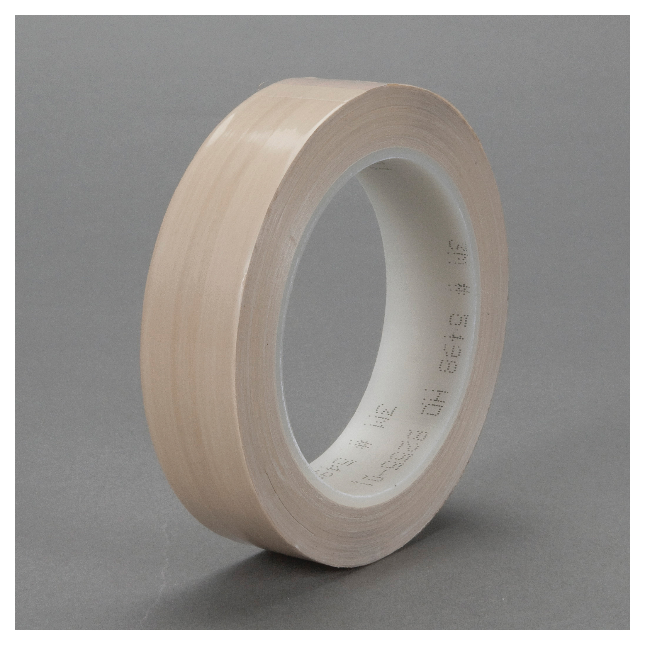 3M™ 021200-24842 Film Tape, 36 yd L x 1 in W, 4 mil THK, Silicone Free Rubber Adhesive, 2 mil Extruded PTFE Backing, Brown