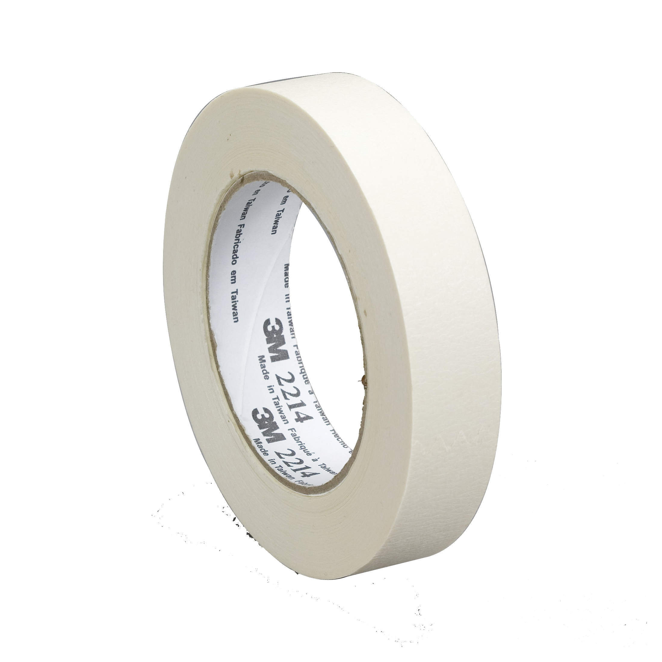 3M™ 021200-26075 Masking Tape, 55 m L x 24 mm W, 5.4 mil THK, Rubber Adhesive, Crepe Paper Backing