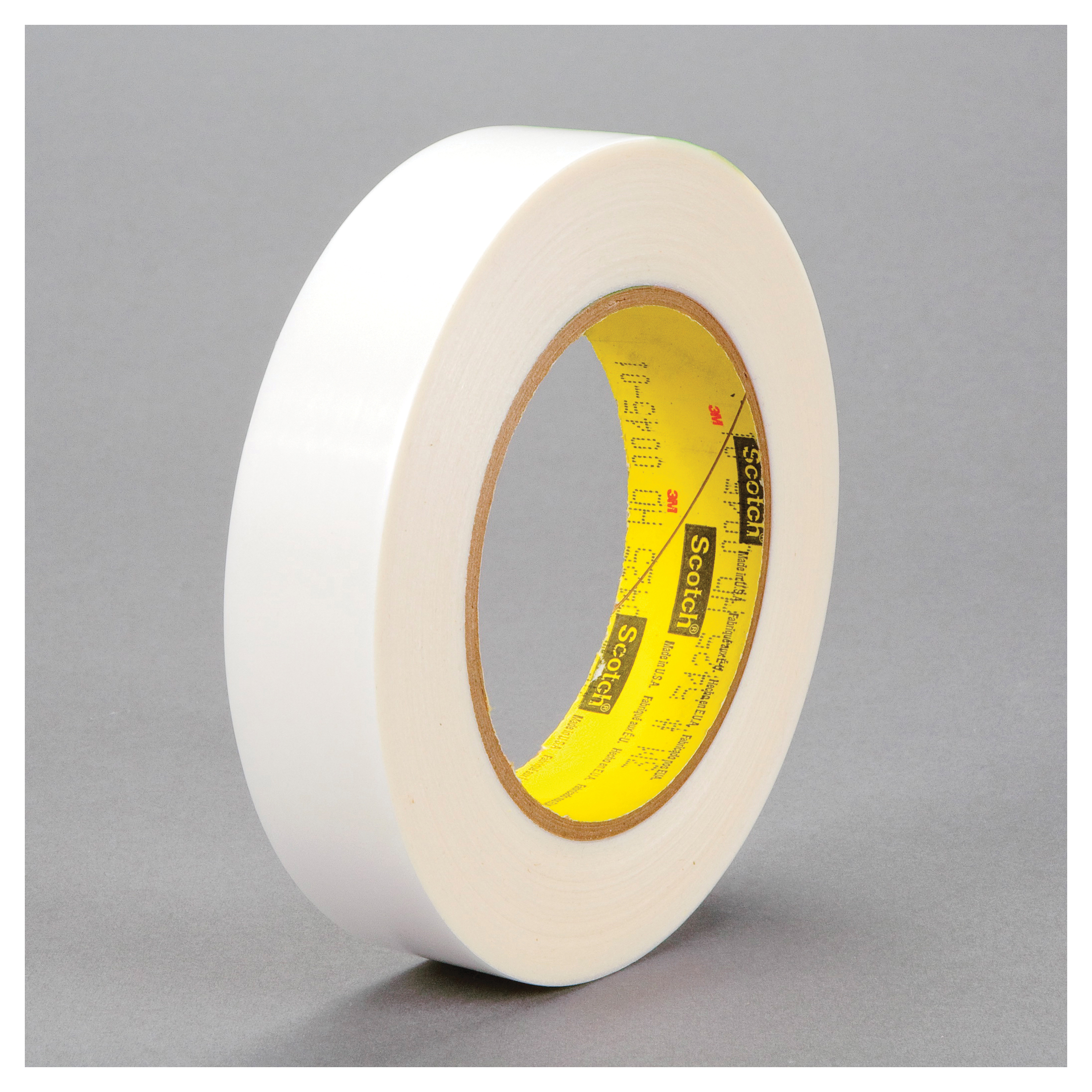 3M™ 021200-61331 Film Tape, 36 yd L x 1 in W, 4.5 mil THK, Acrylic Adhesive, UHMWP Backing, Transparent