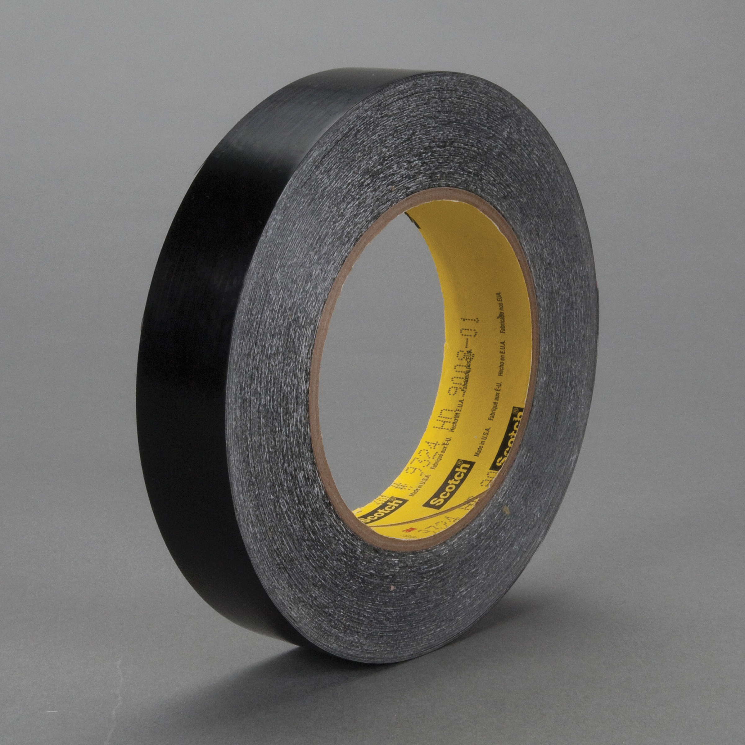 3M™ 021200-38826 High Tack Squeak Reduction Tape, 36 yd L x 1 in W, 6.5 mil THK, Acrylic Adhesive, UHMW Polyethylene Film Backing, Black