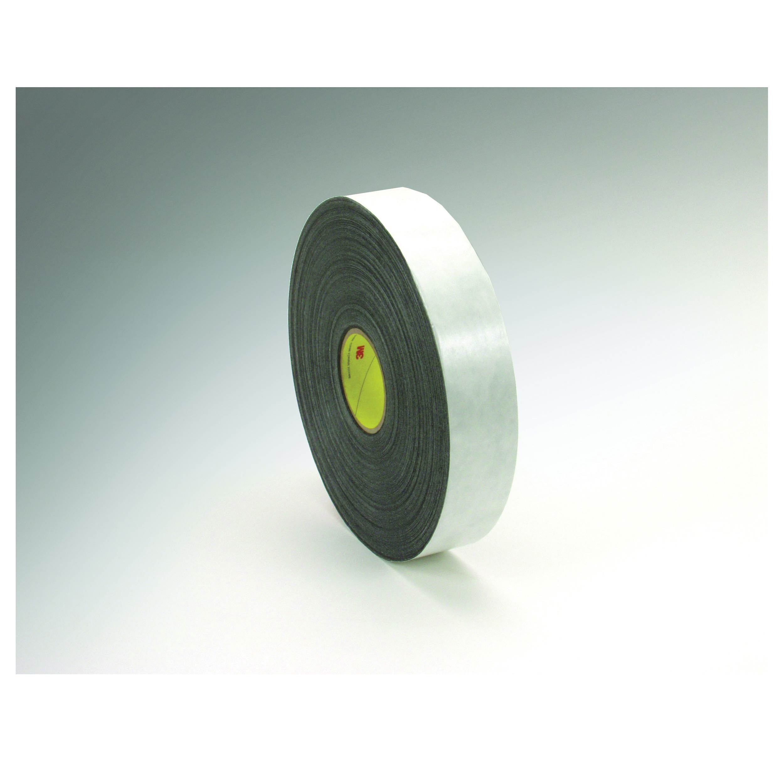 3M™ 021200-30416 Double Coated Tape, 72 yd L x 1/2 in W, 31 mil THK, Rubber Adhesive, Polyethylene Foam Backing, Black