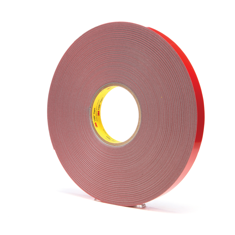 3M™ VHB™ 021200-31422 Pressure Sensitive Double Sided Bonding Tape, 36 yd L x 3/4 in W, 0.045 in THK, Multi-Purpose Acrylic Adhesive, Acrylic Foam Backing, Gray