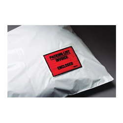 3M™ 021200-37593 Top Printed Packing List Envelope, 5-1/2 in L x 4-1/2 in W, Polyethylene Film Backing, Clear