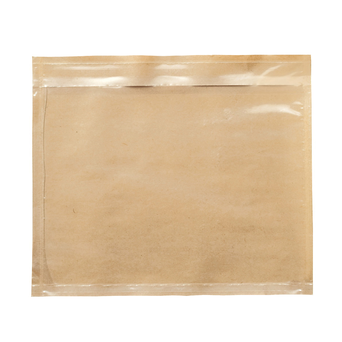 3M™ 021200-37589 Non-Printed Packing List Envelope, 6 in L x 7 in W, Polyethylene Film Backing, Clear